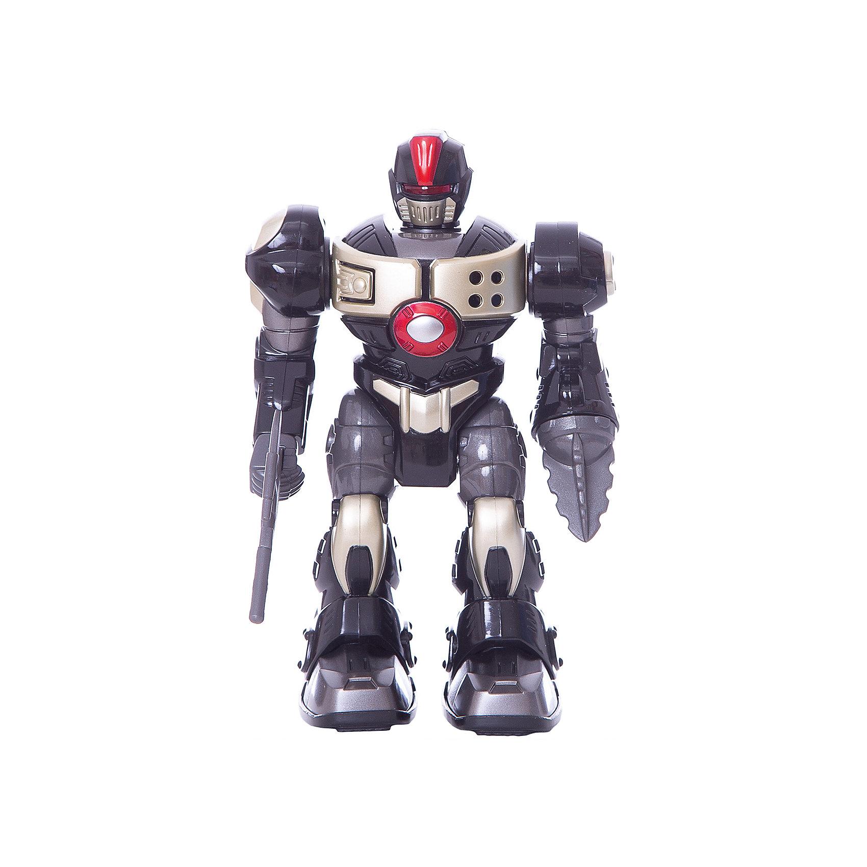 Игрушка-робот XSS, 17,5 см, HAP-P-KIDИгрушка-робот XSS от HAP-P-KID классный подарок юному любителю робототехники! Робот выполнен из качественных материалов, у него прочная броня и несколько видов оружия. Робот самостоятельно передвигается и имеет классные световые эффекты. Устраивать битвы с таким бойцом одно удовольствие! Собирайтесь с друзьями и решайте чей робот самый сильный! Игры с роботами развивают у мальчишек сообразительность и логическое мышление.<br><br>Дополнительная информация: <br><br>- Робот движется вперед;<br>- Три вида оружия;<br>- Световые эффекты;<br>- Работает от батареек: 2 типа ААА;<br>- Прекрасный подарок мальчишке;<br>- Высота игрушки: 17,5 см;<br>- Размер упаковки: 14,6 х 10,2 х 21,6;<br>- Вес: 392 г<br><br>Игрушку-робота XSS, 17,5 см, HAP-P-KID можно купить в нашем интернет-магазине<br><br>Ширина мм: 146<br>Глубина мм: 102<br>Высота мм: 216<br>Вес г: 392<br>Возраст от месяцев: 36<br>Возраст до месяцев: 84<br>Пол: Мужской<br>Возраст: Детский<br>SKU: 4001661