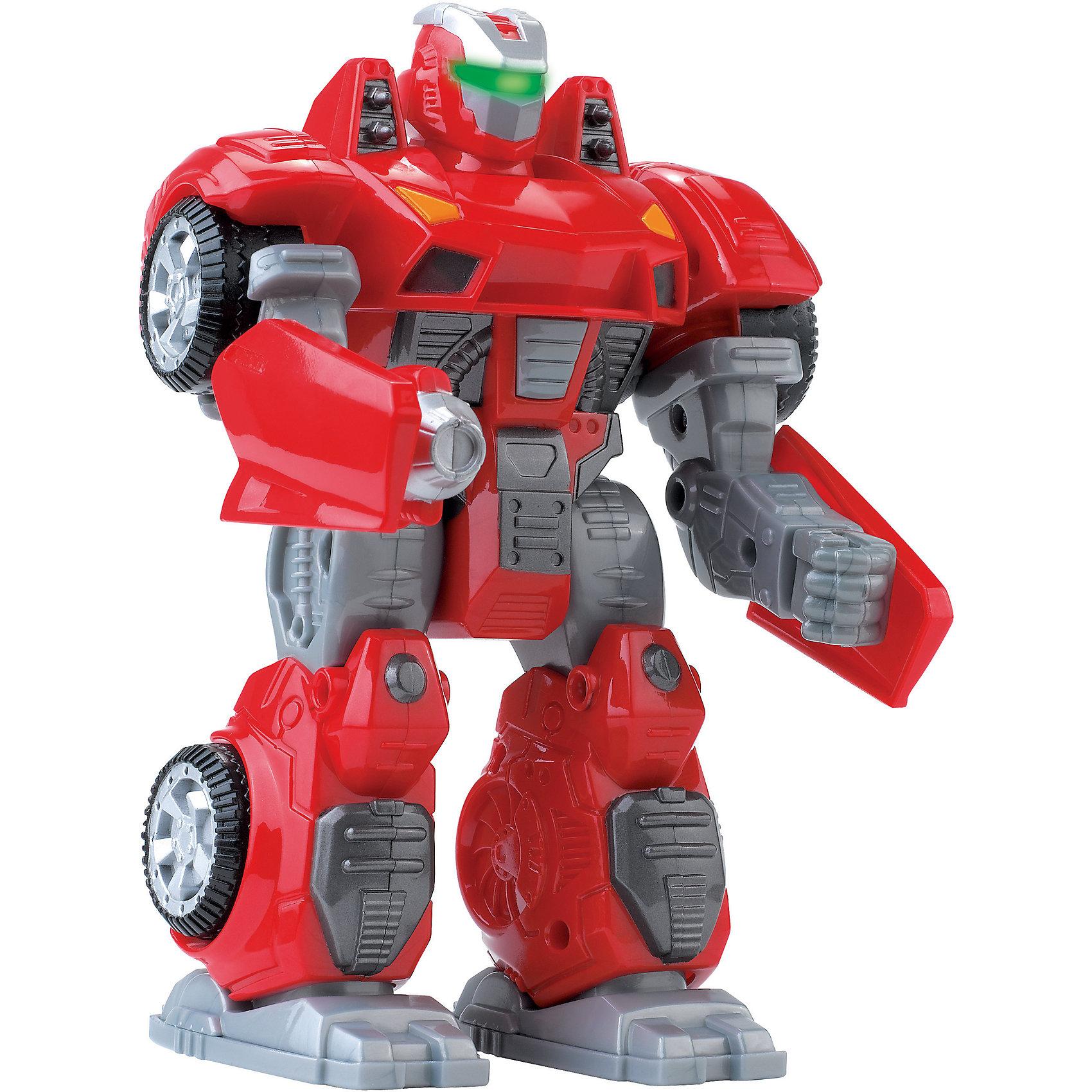 Робот трансформер красный, HAP-P-KIDРобот трансформер от HAP-P-KID классный подарок юному любителю робототехники!  Ребенок очень заинтересуется этим роботом, ведь с помощью него можно придумать так много захватывающих сюжетов. Робот выполнен из качественных материалов, у него прочная броня и в руки ему можно вставить оружие. Робот ходит, двигает головой и руками, а самое главное у него светятся глаза, что делает его еще более угрожающим. Устраивать битвы с таким бойцом одно удовольствие! Собирайтесь с друзьями и решайте чей робот самый сильный! Игры с роботами развивают у мальчишек сообразительность и логическое мышление.<br><br>Дополнительная информация: <br><br>- Робот движется вперед, двигает руками и головой;<br>- Трансформируется в машину;<br>- Светятся глаза;<br>- Работает от батареек;<br>- Прекрасный подарок мальчишке;<br>- Цвет: красный;<br>- Размер упаковки: 13,3 х 9,9 х 20,3;<br>- Вес: 390 г<br><br>Робота трансформера красного, HAP-P-KID можно купить в нашем интернет-магазине<br><br>Ширина мм: 133<br>Глубина мм: 99<br>Высота мм: 203<br>Вес г: 390<br>Возраст от месяцев: 36<br>Возраст до месяцев: 84<br>Пол: Мужской<br>Возраст: Детский<br>SKU: 4001662
