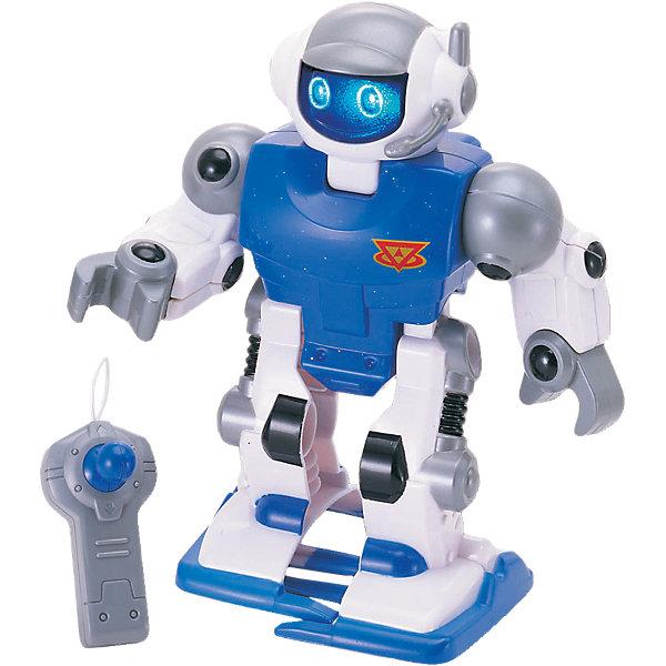 Робот синий, на р/у, KeenwayРоботы<br>Симпатичный робот Keenway (Кинвэй) классный подарок юному любителю робототехники! Управлять им совсем не сложно в комплекте есть пульт управления. При ходьбе робот двигает руками, благодаря чему его движения становятся более реалистичными. Нажми на специальную кнопку и робот заговорит! Ребенок очень заинтересуется этим роботом, ведь с помощью него можно придумать так много захватывающих сюжетов. Робот выполнен из качественных материалов, у него загораются глаза и он может идти не только вперед, но и назад с разворота. Собирайтесь с друзьями и решайте чей робот самый интересный! Игры с роботами развивают у мальчишек сообразительность и логическое мышление.<br><br>Дополнительная информация: <br><br>- Робот движется вперед, назад и двигает руками;<br>- Управляется с пульта;<br>- Классные звуковые эффекты;<br>- Светятся глаза;<br>- Работает от 2 батарее АА (в комплекте);<br>- Прекрасный подарок мальчишке;<br>- Цвет: синий;<br>- Размер упаковки: 10,8 х 22,9 х 20,3;<br>- Вес: 500 г<br><br>Робота синего, на р/у, Keenway (Кинвэй) можно купить в нашем интернет-магазине<br><br>Ширина мм: 108<br>Глубина мм: 229<br>Высота мм: 203<br>Вес г: 500<br>Возраст от месяцев: 36<br>Возраст до месяцев: 84<br>Пол: Мужской<br>Возраст: Детский<br>SKU: 4001670
