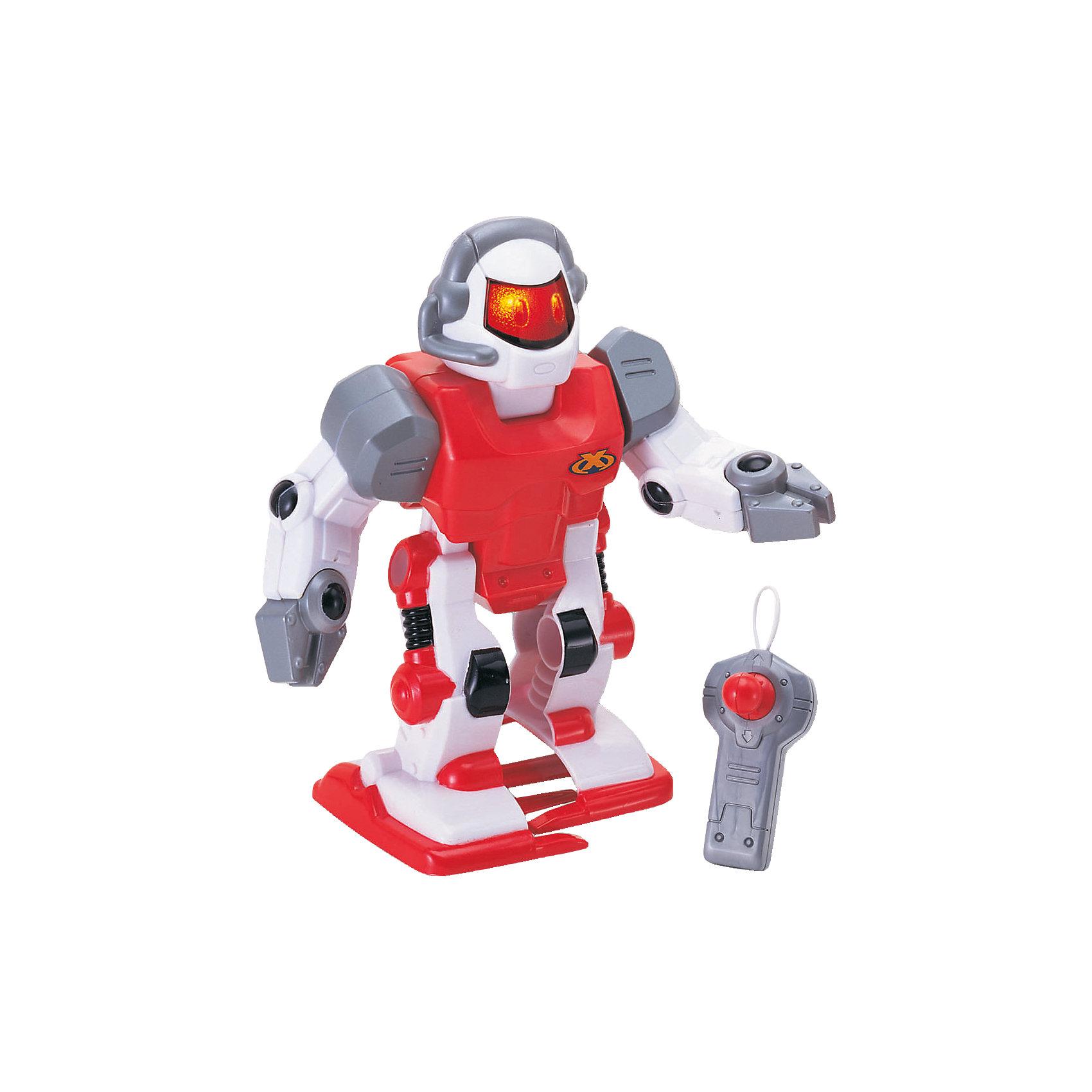 Робот красный, на р/у, KeenwayСимпатичный робот Keenway (Кинвэй) классный подарок юному любителю робототехники! Управлять им совсем не сложно в комплекте есть пульт управления. При ходьбе робот двигает руками, благодаря чему его движения становятся более реалистичными. Нажми на специальную кнопку и робот заговорит! Ребенок очень заинтересуется этим роботом, ведь с помощью него можно придумать так много захватывающих сюжетов. Робот выполнен из качественных материалов, у него загораются глаза и он может идти не только вперед, но и назад с разворота. Собирайтесь с друзьями и решайте чей робот самый интересный! Игры с роботами развивают у мальчишек сообразительность и логическое мышление.<br><br>Дополнительная информация: <br><br>- Робот движется вперед, назад и двигает руками;<br>- Управляется с пульта;<br>- Классные звуковые эффекты;<br>- Светятся глаза;<br>- Работает от 2 батарее АА (в комплекте);<br>- Прекрасный подарок мальчишке;<br>- Цвет: красный;<br>- Размер упаковки: 10,8 х 22,9 х 20,3;<br>- Вес: 500 г<br><br>Робота красного, на р/у, Keenway (Кинвэй) можно купить в нашем интернет-магазине<br><br>Ширина мм: 108<br>Глубина мм: 229<br>Высота мм: 203<br>Вес г: 500<br>Возраст от месяцев: 36<br>Возраст до месяцев: 84<br>Пол: Мужской<br>Возраст: Детский<br>SKU: 4001671