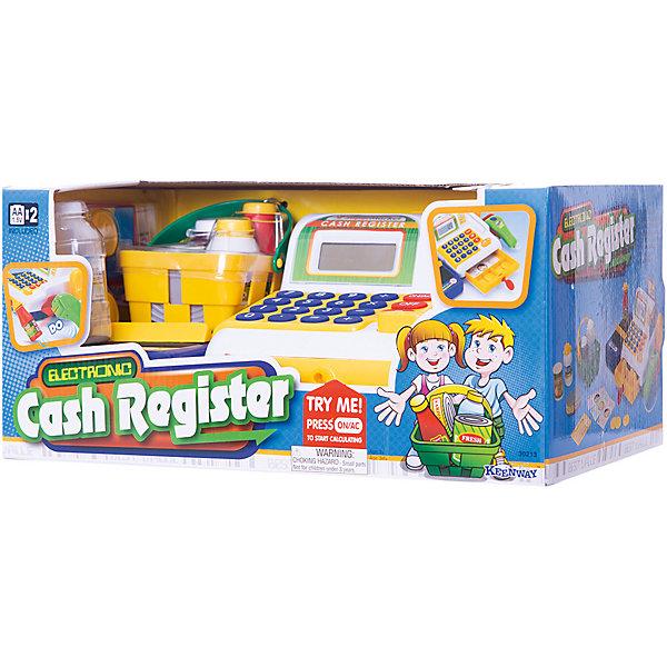 Кассовый аппарат, KeenwayДетский супермаркет<br>Фирма Keenway (Кинвэй) - известный производитель потрясающих наборов для сюжетно-ролевых игр. Малыши обожают ходить в магазин, с Кассовым аппаратом от Keenway (Кинвэй) можно создать целый супермаркет у себя дома. Главной особенностью игрушки является то, что помимо кассового аппарата в наборе есть множество интересных аксессуаров: продукты, корзинка, деньги и даже лента для продуктов, которую можно вращать вручную. Кассовый аппарат снабжен экраном с функцией калькулятора: обучайте малыша счету играючи! Благодаря замечательному сканеру со светом и звуком маленький кассир быстро обслужит покупателей. Расплачиваться можно денежками и пластиковой картой, для которой в кассе тоже есть отделение. Собирайте друзей и играйте в супермаркет с помощью замечательного кассового аппарата от Keenway (Кинвэй)!<br><br>Дополнительная информация: <br><br>- В комплекте: кассовый аппарат, муляжи продуктов, корзина для покупок, игрушечные деньги и банковская карта;<br>- Функция калькулятора;<br>- Звуковые эффекты;<br>- Дорожка для кредитки;<br>- Звуковой сканер;<br>- Потрясающий подарок;<br>- Тип батареек: 2 батарейки типа АА (в комплекте);<br>- Размер игрушки: 33 х 13 х 19 см;<br>- Размер упаковки: 21 х 35,6 х 16,5 см;<br>- Вес: 1,1 кг<br><br>Кассовый аппарат, Keenway (Кинвэй) можно купить в нашем интернет-магазине<br><br>Ширина мм: 210<br>Глубина мм: 356<br>Высота мм: 165<br>Вес г: 1140<br>Возраст от месяцев: 36<br>Возраст до месяцев: 84<br>Пол: Женский<br>Возраст: Детский<br>SKU: 4001679