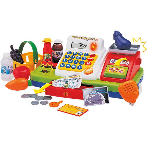 Супермаркет со звуковыми эффектами, KeenwayДетский супермаркет<br>Фирма Keenway (Кинвэй) - известный производитель потрясающих наборов для сюжетно-ролевых игр. Малыши обожают ходить в магазин, с набором Супермаркет от Keenway (Кинвэй) можно создать целый магазин у себя дома. Главной особенностью игрушки является то, что помимо кассового аппарата в наборе есть множество интересных аксессуаров: продукты, корзинка, деньги, лента для продуктов и даже весы для овощей и фруктов. Кассовый аппарат снабжен экраном с функцией калькулятора: обучайте малыша счету играючи! Благодаря замечательному сканеру со светом и звуком маленький кассир быстро обслужит покупателей. Расплачиваться можно денежками и пластиковой картой, для которой в кассе тоже есть отделение.  Денежки можно складывать в выдвигающийся ящичек, который закрывается на ключик. Собирайте друзей и играйте в супермаркет с помощью замечательного набора от Keenway (Кинвэй)!<br><br>Дополнительная информация: <br><br>- В комплекте: кассовый аппарат, весы, муляжи продуктов, корзина для покупок, игрушечные деньги и банковская карта;<br>- Функция калькулятора;<br>- Звуковые эффекты;<br>- Дорожка для кредитки;<br>- Звуковой сканер;<br>- Потрясающий подарок;<br>- Тип батареек: 2 батарейки типа АА (в комплекте);<br>- Размер упаковки: 20,3 х 40,6 х 17,8 см;<br>- Вес: 1,3 кг<br><br>Набор Супермаркет, Keenway (Кинвэй) можно купить в нашем интернет-магазине<br>Ширина мм: 203; Глубина мм: 406; Высота мм: 178; Вес г: 1330; Возраст от месяцев: 36; Возраст до месяцев: 84; Пол: Женский; Возраст: Детский; SKU: 4001681;