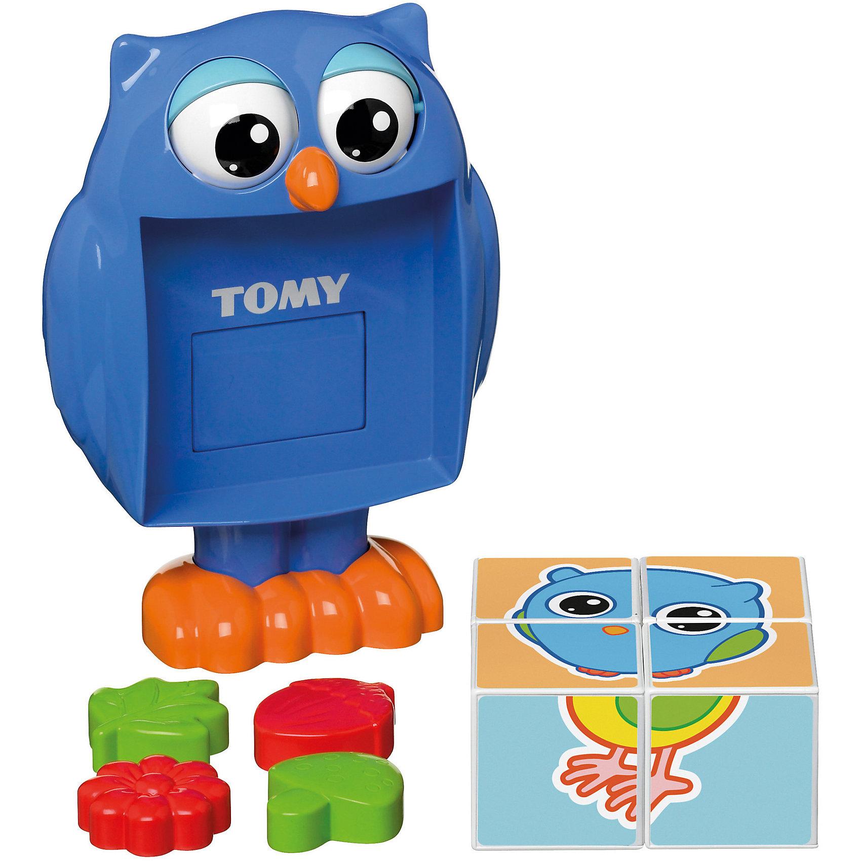 Кубики-сортер от профессора Совы, TOMYСортеры<br>Кубики-сортер от профессора Совы, TOMY (Томи) обязательно понравятся малышам. Чтобы начать игру, кроха должен нажать на голову совы и из ее животика выпадут четыре кубика. Из кубиков ребенок сможет собрать простые картинки. Кроме того, на одной из сторон каждого кубика малыш найдет формочку в виде  цветка, листочка, желудя или гриба, с ней можно играть отдельно, например, брать с собой в песочницу. Игрушка выполнена из высококачественного пластика, не имеет острых углов и мелких деталей, безопасна для детей. Игра с кубиками поможет крохе развить, внимание, моторику и память.<br><br>Дополнительная информация: <br><br>- Материал: пластик.<br>- Комплектация: Сова, кубики (4 шт), формочки (4 шт).<br>- Размер: 27х25х11,5 см.<br><br>Кубики-сортер от профессора Совы, TOMY можно купить в нашем магазине.<br><br>Ширина мм: 240<br>Глубина мм: 100<br>Высота мм: 210<br>Вес г: 1000<br>Возраст от месяцев: 12<br>Возраст до месяцев: 36<br>Пол: Унисекс<br>Возраст: Детский<br>SKU: 4002160