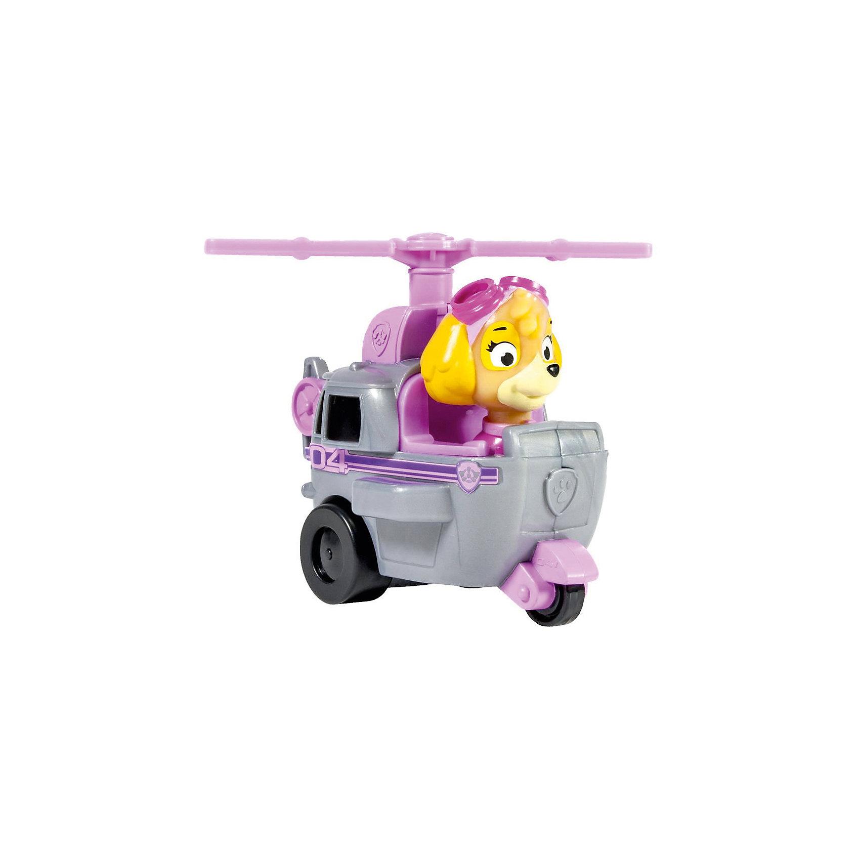 Маленькая машинка спасателя Скай, Щенячий патруль, Spin MasterОчаровательная Скай на своем скоростном вертолете прилетит на помощь в любое место! Яркая игрушка в точности повторяет внешний облик персонажа из мультика, машина и щенок прекрасно детализированы, выполнены из высококачественных материалов. Инерционные машинки Paw Patrol достаточно отвезти назад, отпустить и они помчатся вперед, навстречу приключениям. Собери всех героев из серии Paw Patrol (Щенячий патруль), проигрывай сцены из мультфильма или придумывай свои новые истории. <br><br>Дополнительная информация:<br><br>- Длина машинки: 9 см.<br>- Фигурка героя несъемная.<br>- Материал: пластик.<br><br>Маленькую машинку спасателя Скай, Щенячий патруль, Spin Master(Спин Мастер) можно купить в нашем магазине.<br><br>Ширина мм: 100<br>Глубина мм: 45<br>Высота мм: 90<br>Вес г: 1146<br>Возраст от месяцев: 36<br>Возраст до месяцев: 72<br>Пол: Мужской<br>Возраст: Детский<br>SKU: 4004744