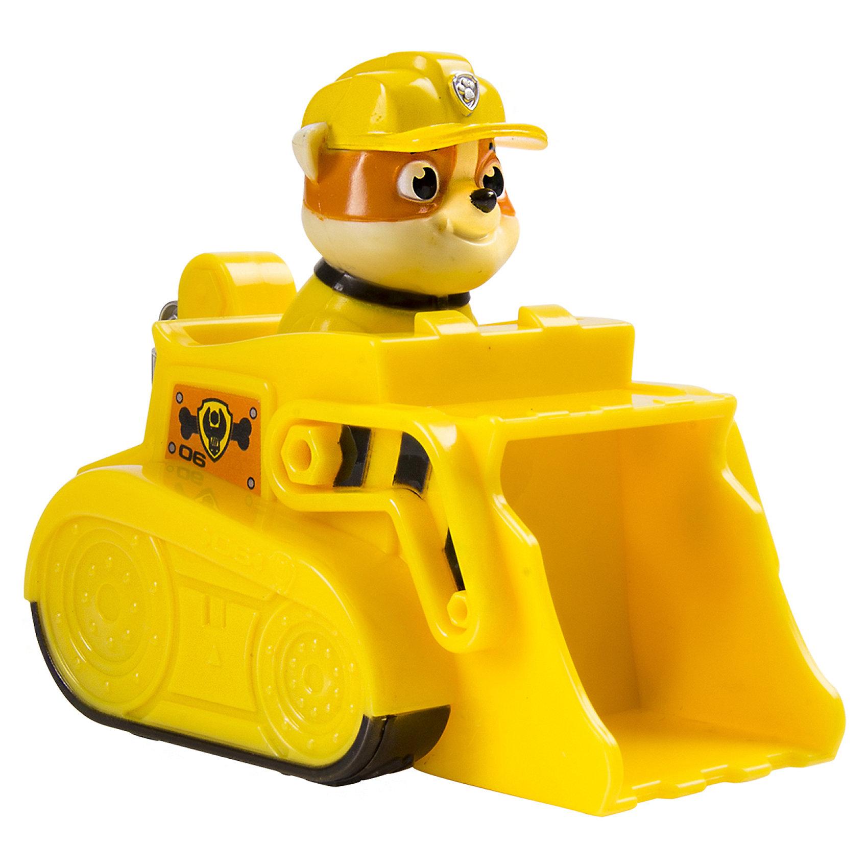 Маленькая машинка спасателя Крепыша, Щенячий патруль, Spin MasterСпасатель Крепыш на своем мощном бульдозере спешит на помощь! Любой, даже самый сложный завал будет разобран. Яркая игрушка в точности повторяет внешний облик персонажа из мультика, машина и щенок прекрасно детализированы, выполнены из высококачественных материалов. Инерционные машинки Paw Patrol достаточно отвезти назад, отпустить и они помчатся вперед, навстречу приключениям. Собери всех героев из серии Paw Patrol (Щенячий патруль), проигрывай сцены из мультфильма или придумывай свои новые истории. <br><br>Дополнительная информация:<br><br>- Длина машинки: 9 см.<br>- Фигурка героя несъемная.<br>- Материал: пластик.<br><br>Маленькую машинку спасателя Крепыша, Щенячий патруль, Spin Master(Спин Мастер) можно купить в нашем магазине.<br><br>Ширина мм: 100<br>Глубина мм: 45<br>Высота мм: 90<br>Вес г: 1146<br>Возраст от месяцев: 36<br>Возраст до месяцев: 72<br>Пол: Мужской<br>Возраст: Детский<br>SKU: 4004745