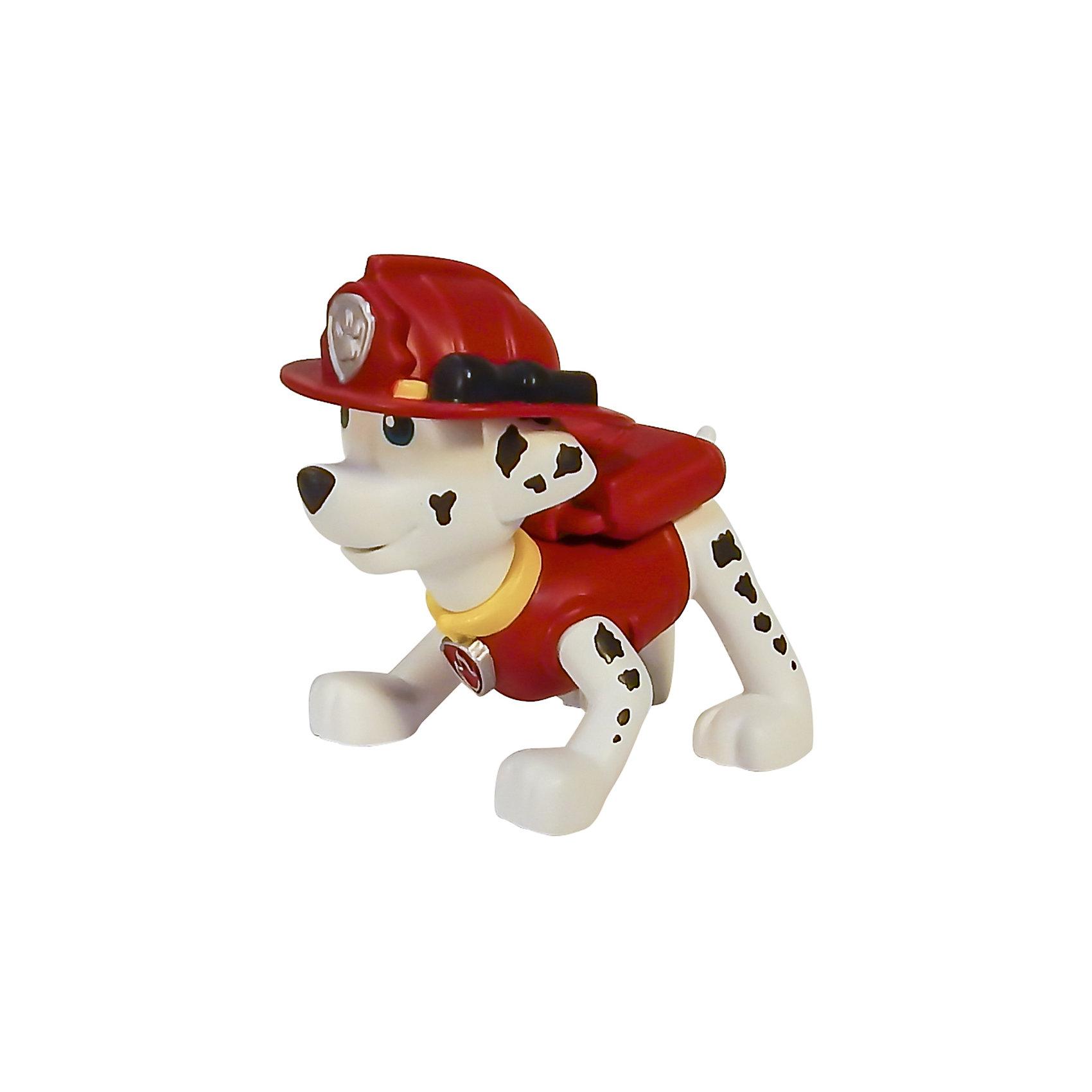 Маленькая фигурка щенка Маршал, Щенячий патруль, Spin MasterИгрушки<br>Маршал - отважный спасатель - пожарный, который сможет справиться с любым огнем! Коллекционная фигурка из серии Paw Patrol (Щенячий патруль) прекрасно детализирована, очень реалистична - в точности повторяет облик персонажа любимого мультфильма. Собери всю коллекцию щенков-спасателей! <br><br><br>Дополнительная информация:<br><br>- Материал: пластик.<br>- Размер фигурки: 7 см. <br>- У фигурки подвижная голова.<br><br>Маленькую фигурку щенка Маршала, Щенячий патруль, Spin Master (Спин Мастер) можно купить в нашем магазине.<br><br>Ширина мм: 60<br>Глубина мм: 40<br>Высота мм: 50<br>Вес г: 554<br>Возраст от месяцев: 36<br>Возраст до месяцев: 72<br>Пол: Унисекс<br>Возраст: Детский<br>SKU: 4004750
