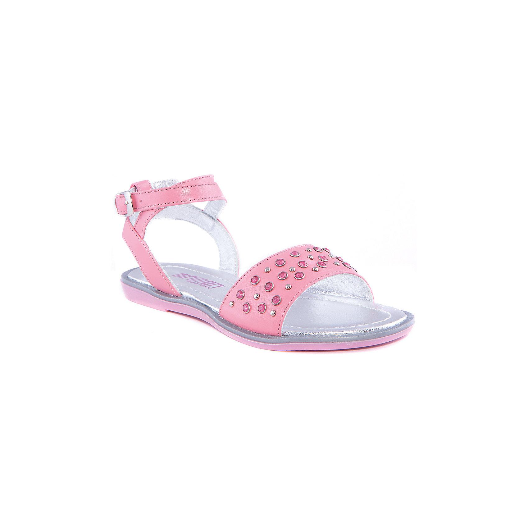 Босоножки для девочки MinimenБосоножки<br>Модные сандалии для девочки от известного турецкого бренда Minimen. Изделие предназначено для использования в сухую погоду при температуре воздуха выше +20 градусов и обладает следующими особенностями:<br>- розовый цвет, эффектный декор;<br>- узкий ремешок с традиционной пряжкой;<br>- подкладка и стелька из натуральной кожи серебряного цвета;<br>- легкая подошва.<br>Очаровательные сандалии для Вашей любимой модницы<br><br>Дополнительная информация:<br>- Температурный режим: выше +20 градусов<br>- Состав: <br>Материал верха: натуральная кожа 100%; <br>Материал подкладки: натуральная кожа 100%; <br>Материал подошвы: термопластик 100%<br><br>Сандалии для девочки Minimen (Минимен) можно купить в нашем магазине<br><br>Ширина мм: 219<br>Глубина мм: 154<br>Высота мм: 121<br>Вес г: 343<br>Цвет: розовый<br>Возраст от месяцев: 144<br>Возраст до месяцев: 156<br>Пол: Женский<br>Возраст: Детский<br>Размер: 36,31,35,34,33,32<br>SKU: 4005732
