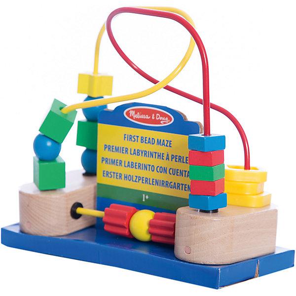 Развивающая игрушка Лабиринт с фигурами, Melissa &amp; DougДеревянные игрушки<br>Развивающая игрушка Лабиринт с фигурами, Melissa &amp; Doug (Мелисса и Даг) – этот лабиринт познакомит ребенка с геометрическими фигурами.<br>Развивающая игрушка Лабиринт с фигурами - это игрушка для самых маленьких деток. Она представляет собой деревянную основу с металлической проволокой, на которой одеты разнообразные геометрические фигуры. Благодаря своей уникальной конструкции фигурки легко перемещаются, забавляя малыша. Все фигурки закреплены, и ребенок не сможет их отцепить, поэтому можно не беспокоиться о безопасности малыша. На основании игрушки имеются присоски, благодаря чему лабиринт можно будет закрепить на любой плоской поверхности. Игрушка поможет научиться малышу, распознавать формы и цвета, разовьет мелкую моторику и координацию движений.<br><br>Дополнительная информация:<br><br>- Материал: дерево<br>- Размер: 19,7х17,8х 9,5 см.<br><br>Развивающую игрушку Лабиринт с фигурами, Melissa &amp; Doug (Мелисса и Даг) можно купить в нашем интернет-магазине.<br>Ширина мм: 100; Глубина мм: 220; Высота мм: 180; Вес г: 588; Возраст от месяцев: 12; Возраст до месяцев: 36; Пол: Унисекс; Возраст: Детский; SKU: 4005803;