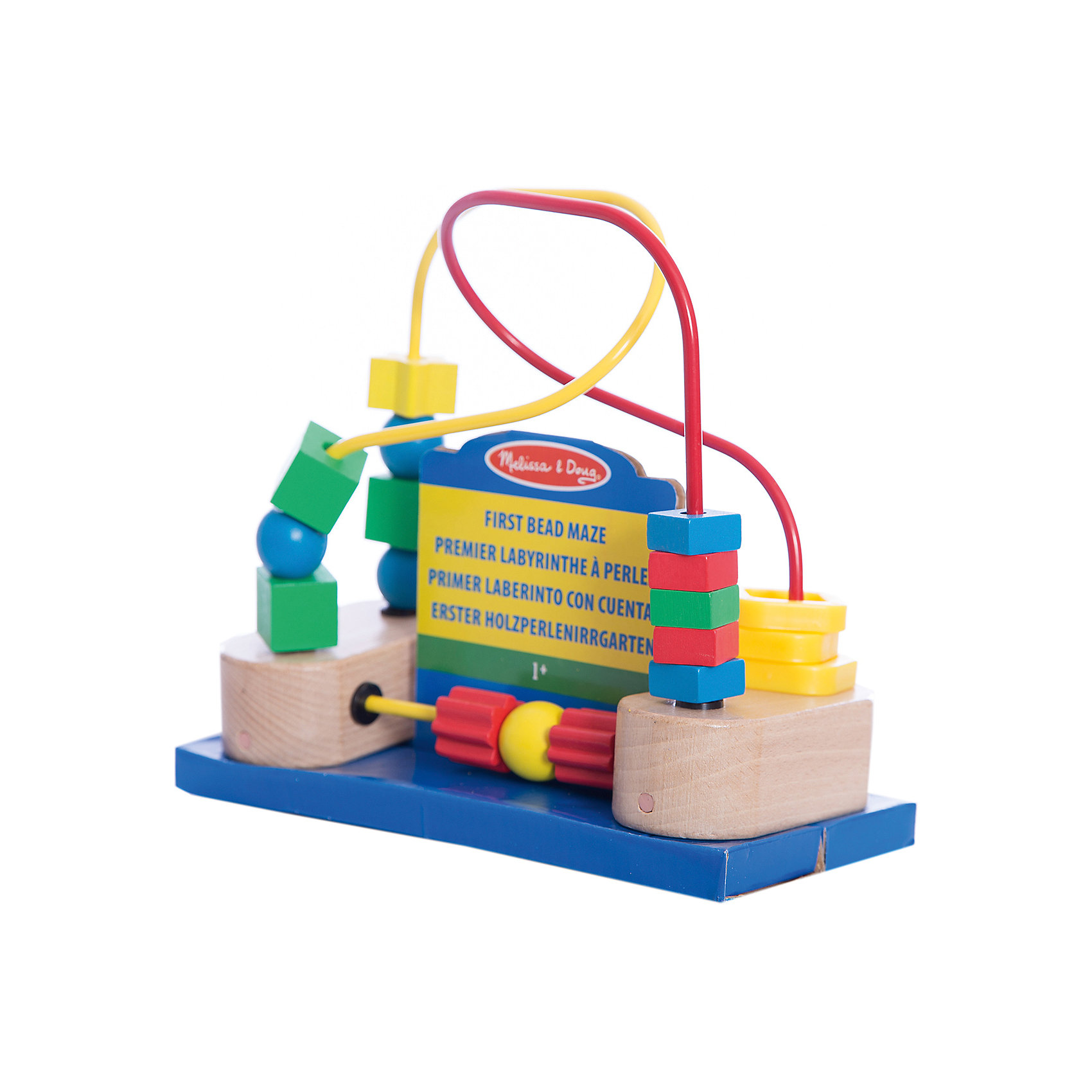 Развивающая игрушка Лабиринт с фигурами, Melissa &amp; DougРазвивающие игры<br>Развивающая игрушка Лабиринт с фигурами, Melissa &amp; Doug (Мелисса и Даг) – этот лабиринт познакомит ребенка с геометрическими фигурами.<br>Развивающая игрушка Лабиринт с фигурами - это игрушка для самых маленьких деток. Она представляет собой деревянную основу с металлической проволокой, на которой одеты разнообразные геометрические фигуры. Благодаря своей уникальной конструкции фигурки легко перемещаются, забавляя малыша. Все фигурки закреплены, и ребенок не сможет их отцепить, поэтому можно не беспокоиться о безопасности малыша. На основании игрушки имеются присоски, благодаря чему лабиринт можно будет закрепить на любой плоской поверхности. Игрушка поможет научиться малышу, распознавать формы и цвета, разовьет мелкую моторику и координацию движений.<br><br>Дополнительная информация:<br><br>- Материал: дерево<br>- Размер: 19,7х17,8х 9,5 см.<br><br>Развивающую игрушку Лабиринт с фигурами, Melissa &amp; Doug (Мелисса и Даг) можно купить в нашем интернет-магазине.<br><br>Ширина мм: 100<br>Глубина мм: 220<br>Высота мм: 180<br>Вес г: 588<br>Возраст от месяцев: 12<br>Возраст до месяцев: 36<br>Пол: Унисекс<br>Возраст: Детский<br>SKU: 4005803