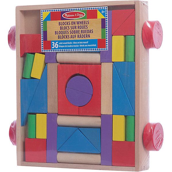 Конструктор в тележке, Melissa &amp; DougДеревянные конструкторы<br>Конструктор в тележке, Melissa &amp; Doug (Мелисса и Даг) – это деревянный конструктор для детей от 2-х лет.<br>Яркие цвета этих 36 деревянных блоков разных форм, объемов и цветов непременно вдохновят вашего ребенка на строительство домиков, замков и крепостей. Все блоки аккуратно помещаются в прочную деревянную тележку на колесиках, которую можно возить на веревочке. Этот конструктор станет прекрасным помощником Вашему маленькому строителю в развитии зрительного восприятия и мелкой моторики. Игрушка сделана из высококачественной древесины и окрашена совершенно безопасными для малышей яркими красками.<br><br>Дополнительная информация:<br><br>- Рекомендуется детям от 2 лет<br>- Количество элементов: 36<br>- Материал: дерево<br>- Размер упаковки: 33х32х7 см.<br>- Вес: 1676 гр.<br><br>Конструктор в тележке, Melissa &amp; Doug (Мелисса и Даг) можно купить в нашем интернет-магазине.<br>Ширина мм: 700; Глубина мм: 330; Высота мм: 320; Вес г: 1676; Возраст от месяцев: 24; Возраст до месяцев: 84; Пол: Унисекс; Возраст: Детский; SKU: 4005806;