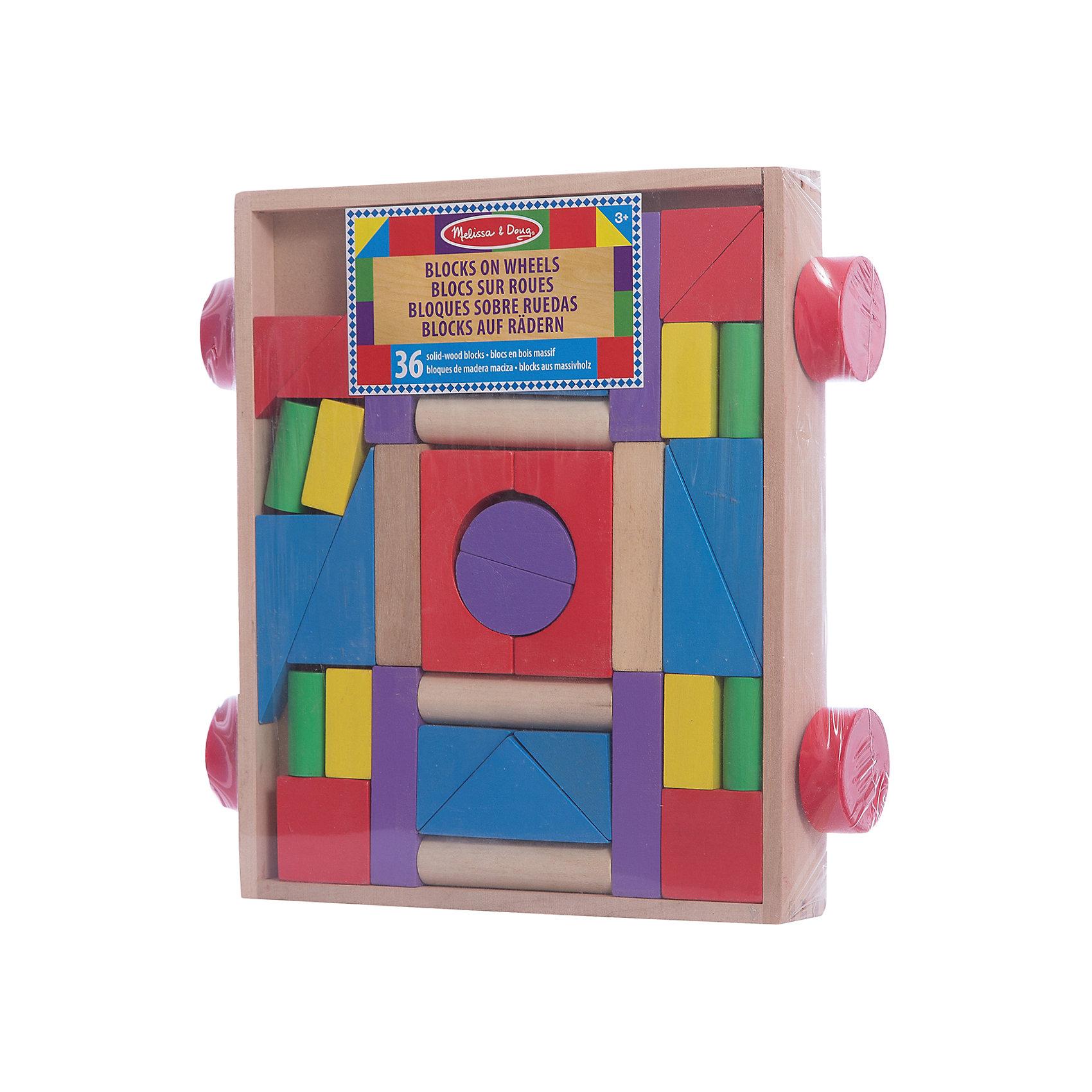 Конструктор в тележке, Melissa &amp; DougКонструктор в тележке, Melissa &amp; Doug (Мелисса и Даг) – это деревянный конструктор для детей от 2-х лет.<br>Яркие цвета этих 36 деревянных блоков разных форм, объемов и цветов непременно вдохновят вашего ребенка на строительство домиков, замков и крепостей. Все блоки аккуратно помещаются в прочную деревянную тележку на колесиках, которую можно возить на веревочке. Этот конструктор станет прекрасным помощником Вашему маленькому строителю в развитии зрительного восприятия и мелкой моторики. Игрушка сделана из высококачественной древесины и окрашена совершенно безопасными для малышей яркими красками.<br><br>Дополнительная информация:<br><br>- Рекомендуется детям от 2 лет<br>- Количество элементов: 36<br>- Материал: дерево<br>- Размер упаковки: 33х32х7 см.<br>- Вес: 1676 гр.<br><br>Конструктор в тележке, Melissa &amp; Doug (Мелисса и Даг) можно купить в нашем интернет-магазине.<br><br>Ширина мм: 700<br>Глубина мм: 330<br>Высота мм: 320<br>Вес г: 1676<br>Возраст от месяцев: 24<br>Возраст до месяцев: 84<br>Пол: Унисекс<br>Возраст: Детский<br>SKU: 4005806