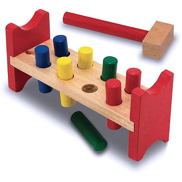 Игрушка Забить в лунки, Melissa &amp; DougДеревянные игрушки<br>Игрушка Забить в лунки, Melissa &amp; Doug (Мелисса и Даг) – это игрушка - стучалка, которую обожают все дети.<br>Игрушка Забить в лунки - увлекательная игра для любителя постучать. Забейте восемь красочных деревянных колышков в деревянную скамейку, а затем выньте и забивайте снова и снова! Игрушка развивает координацию движений, внимание, точность, моторику ручек и пальчиков. Изготовлено из натурального хорошо обработанного дерева, окрашенного безопасными нетоксичными красками.<br><br>Дополнительная информация:<br><br>- В наборе: четыре пары цветных кольев, деревянный молоток<br>- Материал: дерево<br>- Размер упаковки: 28х12х8 см.<br>- Вес: 543 гр.<br><br>Игрушку Забить в лунки, Melissa &amp; Doug (Мелисса и Даг) можно купить в нашем интернет-магазине.<br>Ширина мм: 800; Глубина мм: 280; Высота мм: 120; Вес г: 543; Возраст от месяцев: 24; Возраст до месяцев: 48; Пол: Унисекс; Возраст: Детский; SKU: 4005809;
