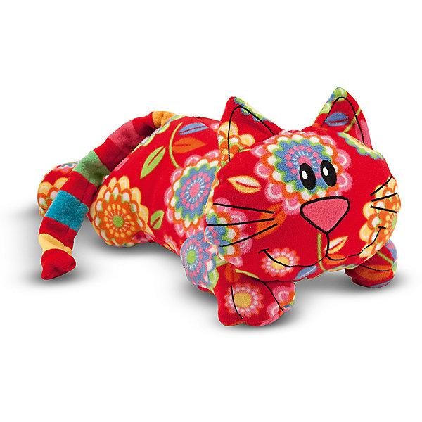 Мягкая игрушка Melissa&amp;Doug Кот ТобиМягкие игрушки животные<br>Мягкая игрушка Кот Тоби, Melissa &amp; Doug (Мелисса и Даг) – это очаровательный веселый котенок необычной расцветки.<br>Этого симпатичного котенка зовут Тоби, у него очаровательная улыбка, яркий полосатый хвостик,  а туловище украшено большими сказочными цветами. Нет никаких пластмассовых деталей - глаза, нос, усы и улыбка котенка – вышитые. Тоби станет настоящим другом Вашего малыша на долгие годы. С таким необычным котенком весело играть и уютно спать в обнимку, его можно брать с собой на прогулку, в гости или в путешествие. Игрушка изготовлена из экологически чистого и безопасного материала.<br><br>Дополнительная информация:<br><br>- Материал: ультрамягкий флис<br>- Размер игрушки: 40 см.<br><br>Мягкую игрушку Кот Тоби, Melissa &amp; Doug (Мелисса и Даг) можно купить в нашем интернет-магазине.<br><br>Ширина мм: 400<br>Глубина мм: 250<br>Высота мм: 200<br>Вес г: 113<br>Возраст от месяцев: 36<br>Возраст до месяцев: 192<br>Пол: Унисекс<br>Возраст: Детский<br>SKU: 4005812