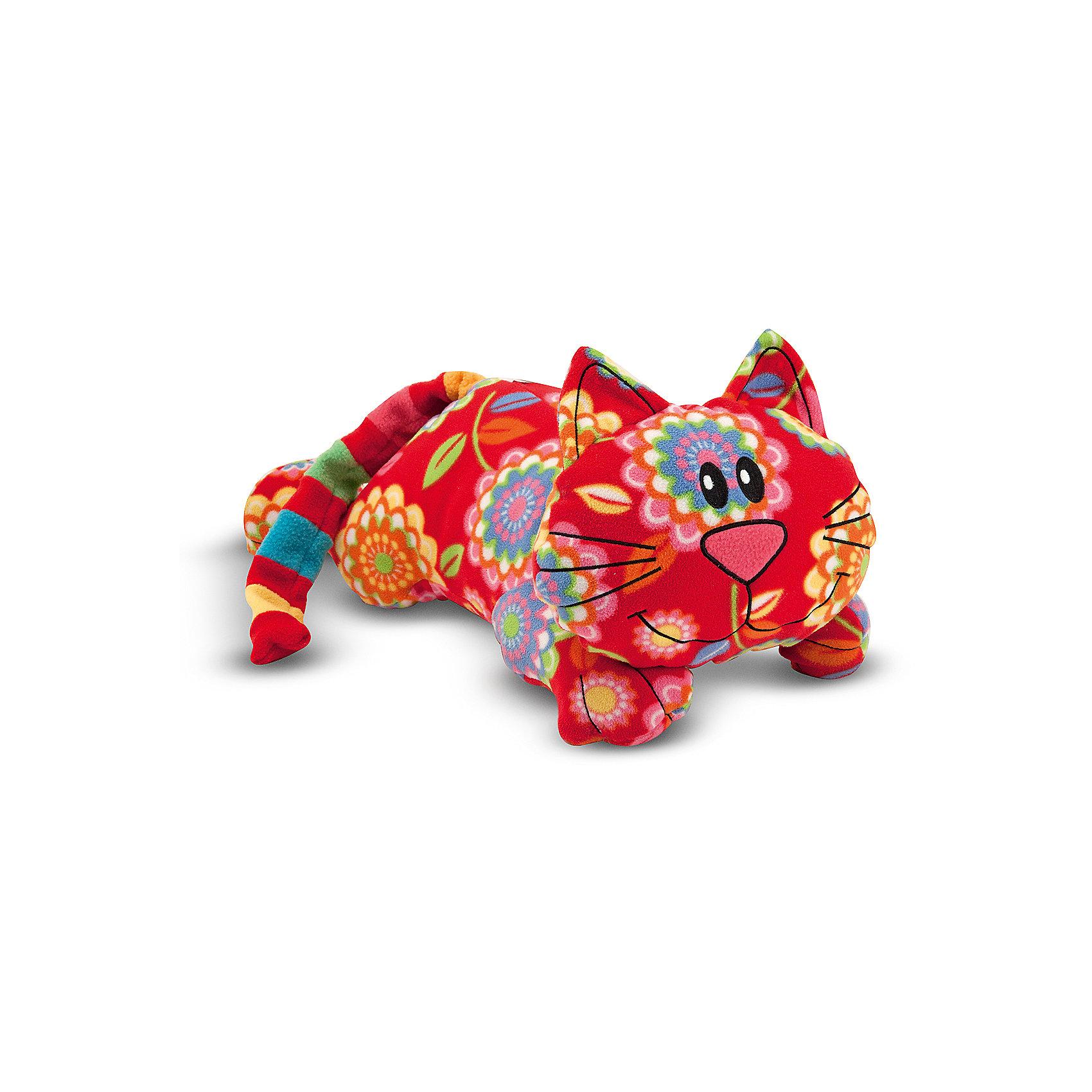 Мягкая игрушка Melissa&amp;Doug Кот ТобиКошки и собаки<br>Мягкая игрушка Кот Тоби, Melissa &amp; Doug (Мелисса и Даг) – это очаровательный веселый котенок необычной расцветки.<br>Этого симпатичного котенка зовут Тоби, у него очаровательная улыбка, яркий полосатый хвостик,  а туловище украшено большими сказочными цветами. Нет никаких пластмассовых деталей - глаза, нос, усы и улыбка котенка – вышитые. Тоби станет настоящим другом Вашего малыша на долгие годы. С таким необычным котенком весело играть и уютно спать в обнимку, его можно брать с собой на прогулку, в гости или в путешествие. Игрушка изготовлена из экологически чистого и безопасного материала.<br><br>Дополнительная информация:<br><br>- Материал: ультрамягкий флис<br>- Размер игрушки: 40 см.<br><br>Мягкую игрушку Кот Тоби, Melissa &amp; Doug (Мелисса и Даг) можно купить в нашем интернет-магазине.<br><br>Ширина мм: 400<br>Глубина мм: 250<br>Высота мм: 200<br>Вес г: 113<br>Возраст от месяцев: 36<br>Возраст до месяцев: 192<br>Пол: Унисекс<br>Возраст: Детский<br>SKU: 4005812