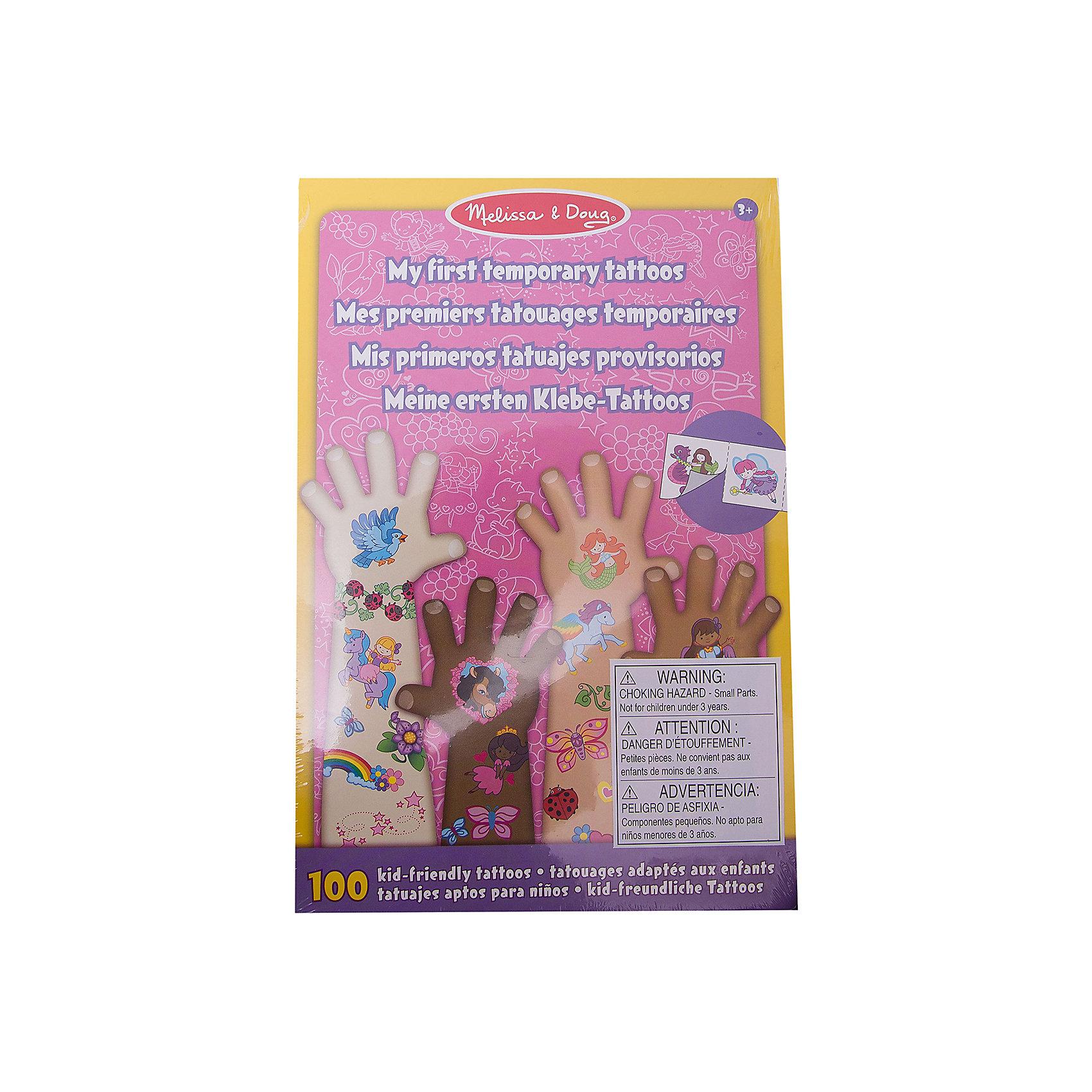 Набор временных тату (розовый), Melissa &amp; DougВ Набор временных тату (розовый), Melissa &amp; Doug (Мелисса и Даг) входит более 100 красочных наклеек для маленьких модниц. Здесь есть сердечки, принцессы, бабочки, феи, пони, цветы и многое другое. Детские временные татуировки из данного набора абсолютно безопасны для детской кожи, легко наносятся на тело и удаляются при помощи воды.<br><br>Дополнительная информация:<br>-Размер упаковки: 23x15 см<br>-Материал: дерево, прессованный картон, ПВХ<br><br>Яркие наклейки из набора временных тату создадут новый образ Вашей малышки, и она несомненно оценит такой подарок!<br><br>Набор временных тату (розовый), Melissa &amp; Doug (Мелисса и Даг) можно купить в нашем магазине.<br><br>Ширина мм: 150<br>Глубина мм: 150<br>Высота мм: 230<br>Вес г: 340<br>Возраст от месяцев: 36<br>Возраст до месяцев: 180<br>Пол: Унисекс<br>Возраст: Детский<br>SKU: 4008262
