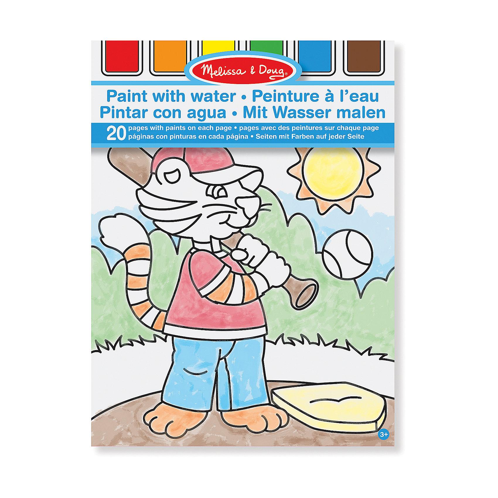 Набор Рисуем водой (голубой), Melissa &amp; DougРисование<br>Набор Рисуем водой (голубой), Melissa &amp; Doug (Мелисса и Даг) – замечательный набор для раскрашивания без использования красок, что очень удобно для родителей, ведь малыши не смогут испачкаться в процессе рисования. Вверху каждой страницы расположена цветовая палитра, на которые нужно добавить немножко воды, и можно раскрашивать рисунок. По мере того, как бумага будет намокать, на ней будут проявляться разные цвета. Бумага высокого качества гарантирует длительный срок службы художественных работ Вашего малыша. В процессе рисования водой у ребенка развивается творческое и логическое мышление, тренируется мелкая моторика и художественные навыки.<br><br>Комплектация: 20 страниц из плотной бумаги с рисунками, кисть<br><br>Дополнительная информация:<br>-Материал: дерево, прессованный картон, ПВХ<br>-Размер: 30x22 см<br><br>Этот альбом иллюстрированных раскрасок станет замечательным и полезным подарком самым маленьким детям. <br><br>Набор Рисуем водой (голубой), Melissa &amp; Doug (Мелисса и Даг) можно купить в нашем магазине.<br><br>Ширина мм: 210<br>Глубина мм: 210<br>Высота мм: 290<br>Вес г: 210<br>Возраст от месяцев: 36<br>Возраст до месяцев: 180<br>Пол: Унисекс<br>Возраст: Детский<br>SKU: 4008267