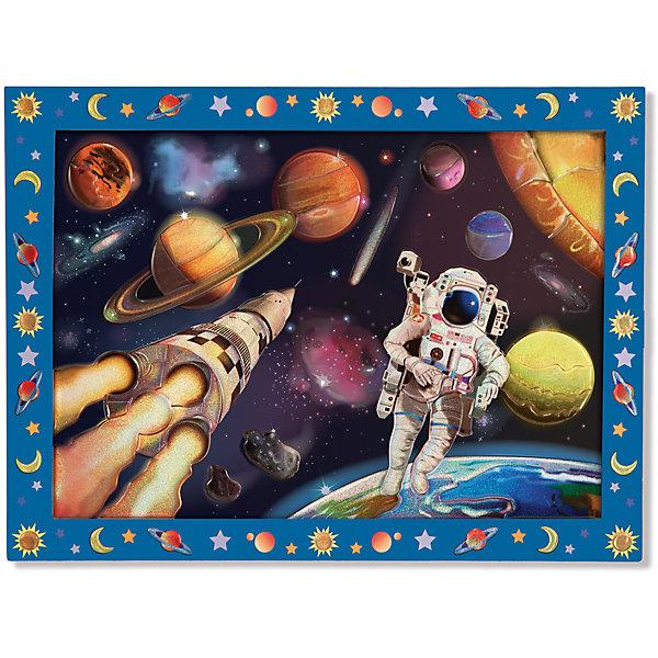 Мозаика Космическая Миссия, Melissa &amp; DougМозаика детская<br>С помощью цветных блестящих пронумерованных наклеек  из набора Мозаика Космическая Миссия, Melissa &amp; Doug (Мелисса и Даг) Ваш ребенок сможет создать потрясающую картину космоса. Красочная мозаика имеет деревянную основу с пронумерованными ячейками, на которые клеятся стикеры-пазлы с соответствующими цифрами. Ребенок с удовольствием будет складывать из отдельных элементов красочное изображение космоса. В результате получится красивый рисунок, которым ваш ребенок будет гордиться и сможет повесить на стену в своей комнате. Набор развивает мелкую моторику рук, фантазию, зрительную память.<br><br>Комплектация: деревянная основа, более 60 стикеров<br><br>Дополнительная информация:<br>-Материал: дерево, картон <br>-Размер упаковки: 40х30х1,3 см<br>-Вес: 450 г<br><br>Набор для детского творчества «Космическая Миссия» порадует мальчиков оригинальной мерцающей мозаикой с изображением космического пространства с космонавтом, космическим кораблем и небесными телами.<br><br>Мозаика Космическая Миссия, Melissa &amp; Doug (Мелисса и Даг) можно купить в нашем магазине.<br><br>Ширина мм: 400<br>Глубина мм: 400<br>Высота мм: 300<br>Вес г: 620<br>Возраст от месяцев: 60<br>Возраст до месяцев: 180<br>Пол: Унисекс<br>Возраст: Детский<br>SKU: 4008268