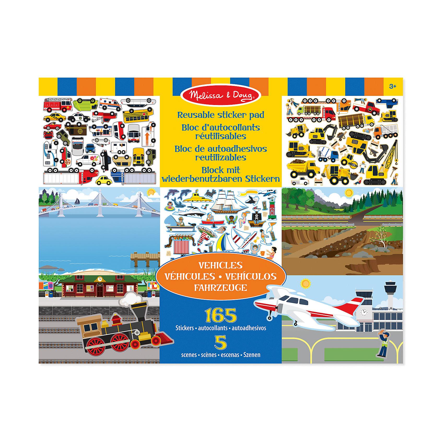 Набор со стикерами и фоном Транспорт, Melissa &amp; DougНабор со стикерами и фоном Транспорт, Melissa &amp; Doug (Мелисса и Даг) содержит 5 глянцевых фонов различной местности, а также более 165 стикеров, с помощью которых Ваш ребенок придумает занимательные сюжеты на тему аэропорт, морской порт,  ж/д вокзал, строительная площадка, дорога. На картинках-фонах достаточно места, чтобы разместить разнообразный транспорт. Картинки-фоны отделяются друг от друга, а яркие стикеры легко отклеиваются снова и снова – «транспорт» можно перемещать из сюжета в сюжет! Занятие с творческим набором  стикеров и фоном «Транспорт» способствует развитию мелкой моторики, фантазии, творческого мышления, художественных навыков и эстетического вкуса.<br><br>Комплектация: 5 фонов, более 165 стикеров транспорта<br><br>Дополнительная информация:<br>-Размер альбома: 35,5х28 см<br>-Вес: 0,6 кг<br>-Материал: бумага, картон<br><br>С помощью красочного набора изображений фона и многоразовых наклеек на тему «Транспорт» можно создать удивительный пейзаж и придумать множество увлекательных игр. <br><br>Набор со стикерами и фоном Транспорт, Melissa &amp; Doug (Мелисса и Даг) можно купить в нашем магазине.<br><br>Ширина мм: 360<br>Глубина мм: 360<br>Высота мм: 280<br>Вес г: 560<br>Возраст от месяцев: 36<br>Возраст до месяцев: 180<br>Пол: Унисекс<br>Возраст: Детский<br>SKU: 4008277