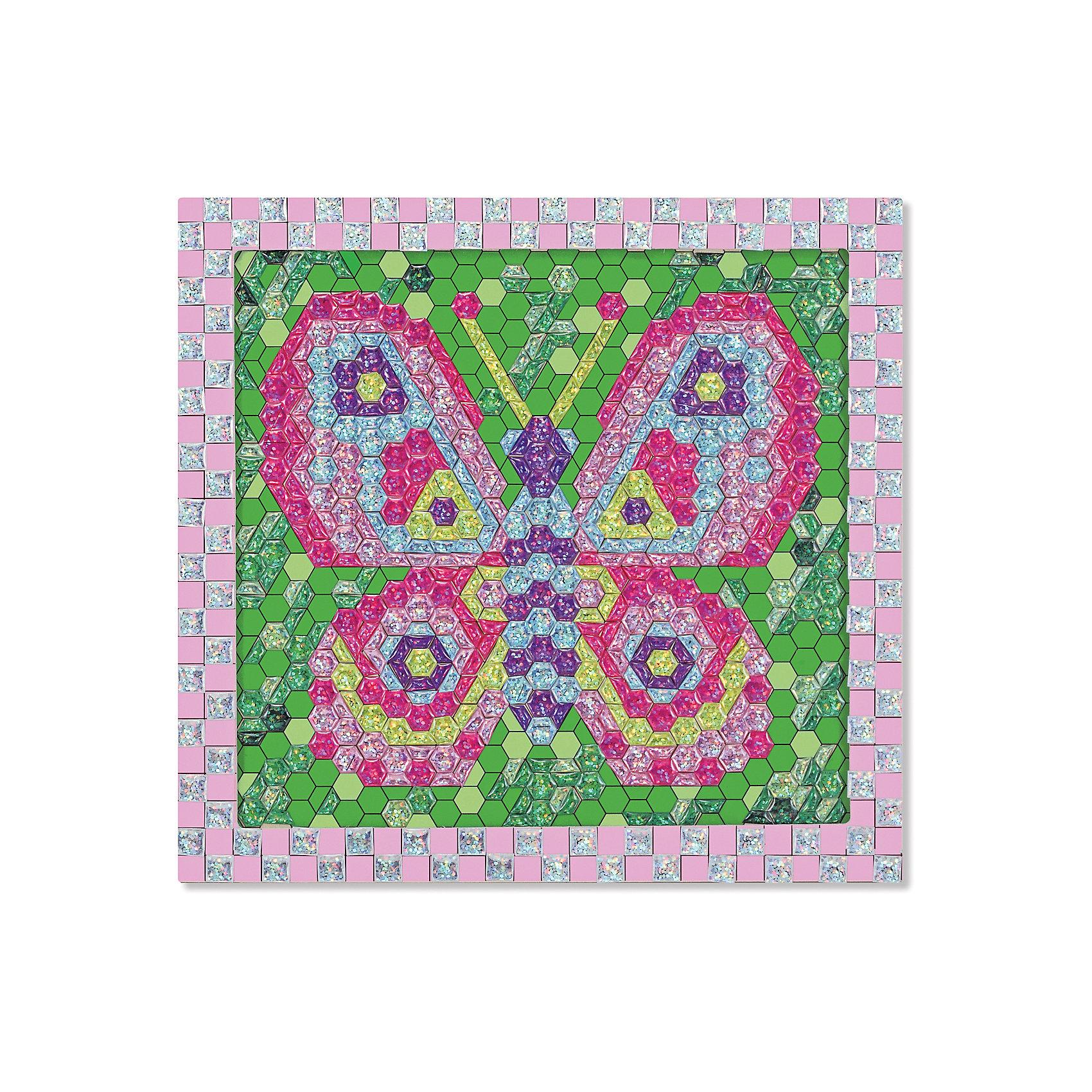 Мозаика Бабочка, Melissa &amp; DougМозаика<br>При помощи 600 сверкающих объемных стикеров из набора Мозаика Бабочка, Melissa &amp; Doug (Мелисса и Даг) ребенок создаст разноцветное изображение бабочки в деревянной раме. Самоклеящиеся элементы следует выкладывать в строгом соответствии с цифрами на основе-рамке (стикеры также пронумерованы). Готовая картинка станет украшением детской комнаты или самодельным подарком близким. Набор развивает мелкую моторику, логическое мышление, творческие способности, усидчивость.<br><br>Дополнительная информация:<br>-Материал: дерево, пластик<br>-Размер упаковки: 27х30х2 см<br>-Вес: 0,5 кг<br><br>Творческий набор Мозаика «Бабочка» станет отличным подарком для Вашего ребенка и обеспечит ему полезное и увлекательное времяпрепровождение.<br><br>Мозаика Бабочка, Melissa &amp; Doug (Мелисса и Даг) можно купить в нашем магазине.<br><br>Ширина мм: 310<br>Глубина мм: 310<br>Высота мм: 270<br>Вес г: 620<br>Возраст от месяцев: 72<br>Возраст до месяцев: 180<br>Пол: Женский<br>Возраст: Детский<br>SKU: 4008279