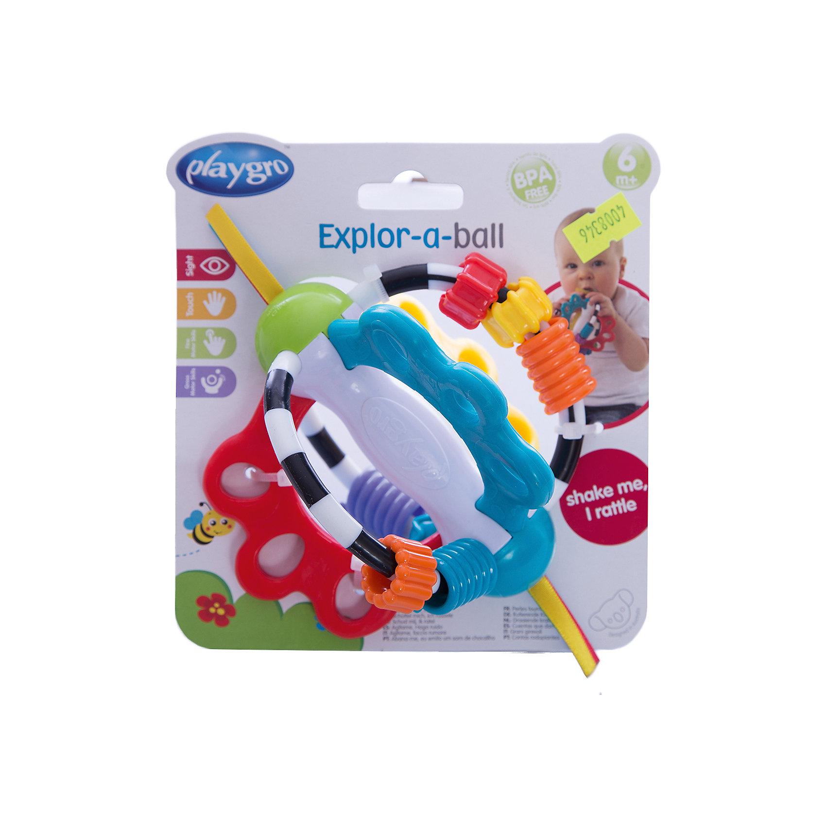 Развивающая игрушка, PlaygroРазвивающие игрушки<br>Многофункциональная игрушка Playgro развивают не только зрение, но и моторику малыша. Она имеет необычную форму и украшена различными фигурками в виде звездочек, сердечек и бусинок, а ее края декорированы ленточками. Игрушка изготовлена экологически чистых и гипоаллергенных материалов, безопасных для здоровья ребенка.<br><br>Дополнительная информация:<br><br>- Возраст: от 6 до 18 месяцев<br>- Материал: пластик, текстиль<br>- Диаметр игрушки: 17 см<br>- Вес: 0.15 кг<br><br>Развивающую игрушку, Playgro можно купить в нашем интернет-магазине.<br><br>Ширина мм: 164<br>Глубина мм: 145<br>Высота мм: 111<br>Вес г: 115<br>Возраст от месяцев: 6<br>Возраст до месяцев: 18<br>Пол: Унисекс<br>Возраст: Детский<br>SKU: 4008346