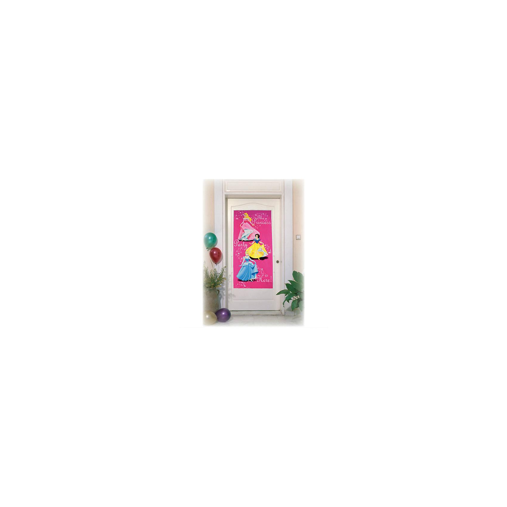 Баннер на дверь ПринцессыБаннер на дверь Принцессы станет чудесным украшением комнаты маленькой принцессы во время праздника и создаст настроение сказки и волшебства. Баннер приятного розового цвета украшен изображениями сказочных принцесс из популярных диснеевских мультфильмов и надписью The princess party is here (Вечеринка для принцесс здесь).<br><br>Дополнительная информация:<br><br>- Материал: ПВХ..<br>- Размер баннера: 76 х 152 см.<br>- Размер упаковки: 18,5 х 2 х 25 см. <br>- Вес: 40 гр.<br><br>Баннер на дверь Принцессы,  можно купить в нашем интернет-магазине.<br><br>Ширина мм: 185<br>Глубина мм: 20<br>Высота мм: 250<br>Вес г: 40<br>Возраст от месяцев: 36<br>Возраст до месяцев: 84<br>Пол: Женский<br>Возраст: Детский<br>SKU: 4008376