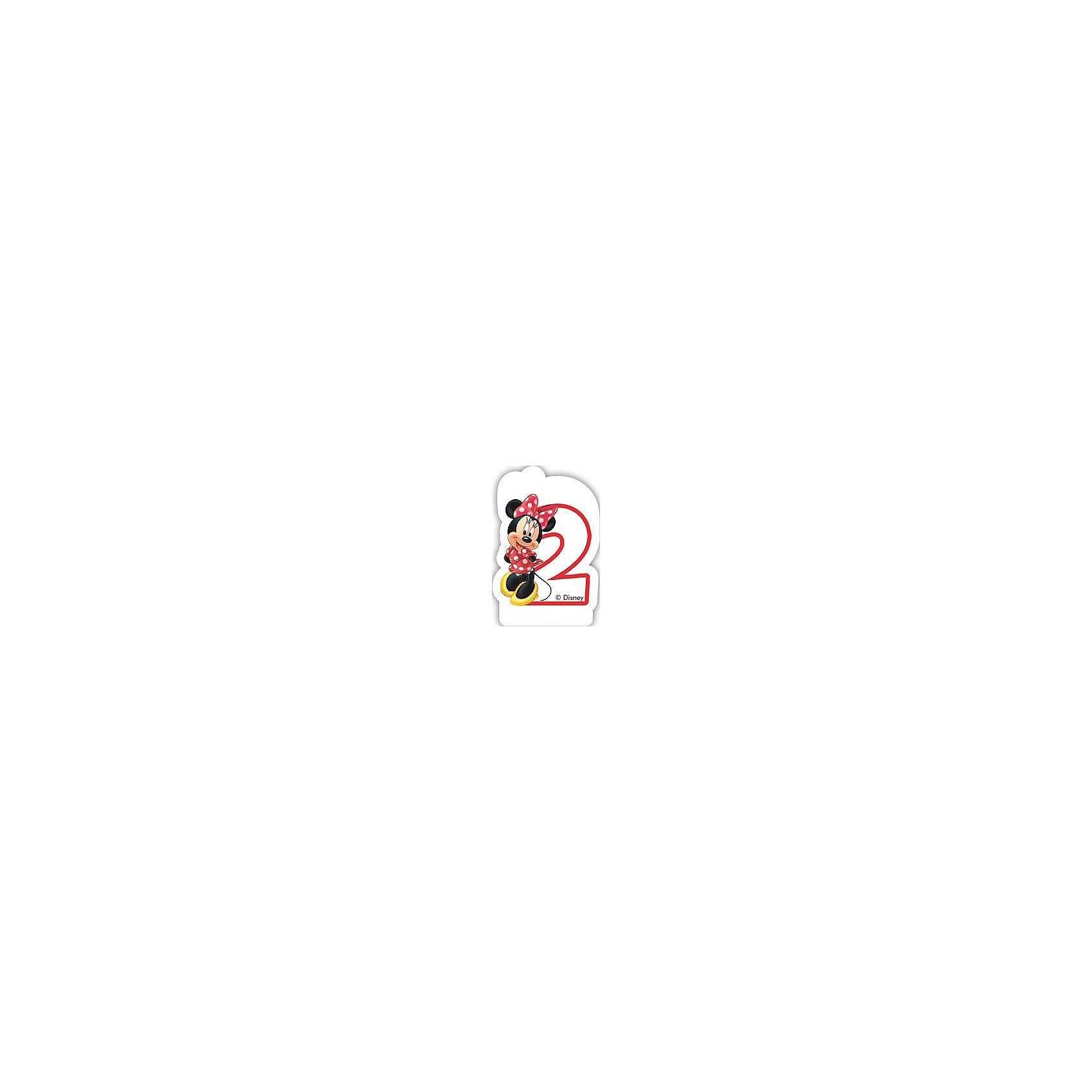 Объемная свечка Кафе Минни 2 годаОбъемная свечка Кафе Минни,  украсит праздничный торт Вашей малышки на ее 2-летие. Свечка выполнена в форме цифры 2 с фигуркой веселой мышки Минни из популярных диснеевских мультфильмов о мышонке Микки-Маусе и его друзьях. Яркая оригинальная свечка создаст волшебную атмосферу и уют на любимом детском празднике.<br><br>Дополнительная информация:<br><br>- Материал: парафин. <br>- Размер: 2,6 х 8,8 х 13 см.<br>- Вес: 150 гр. <br><br>Объемную свечку Кафе Минни 2 года  можно купить в нашем интернет-магазине.<br><br>Ширина мм: 26<br>Глубина мм: 88<br>Высота мм: 130<br>Вес г: 150<br>Возраст от месяцев: 36<br>Возраст до месяцев: 84<br>Пол: Женский<br>Возраст: Детский<br>SKU: 4008397