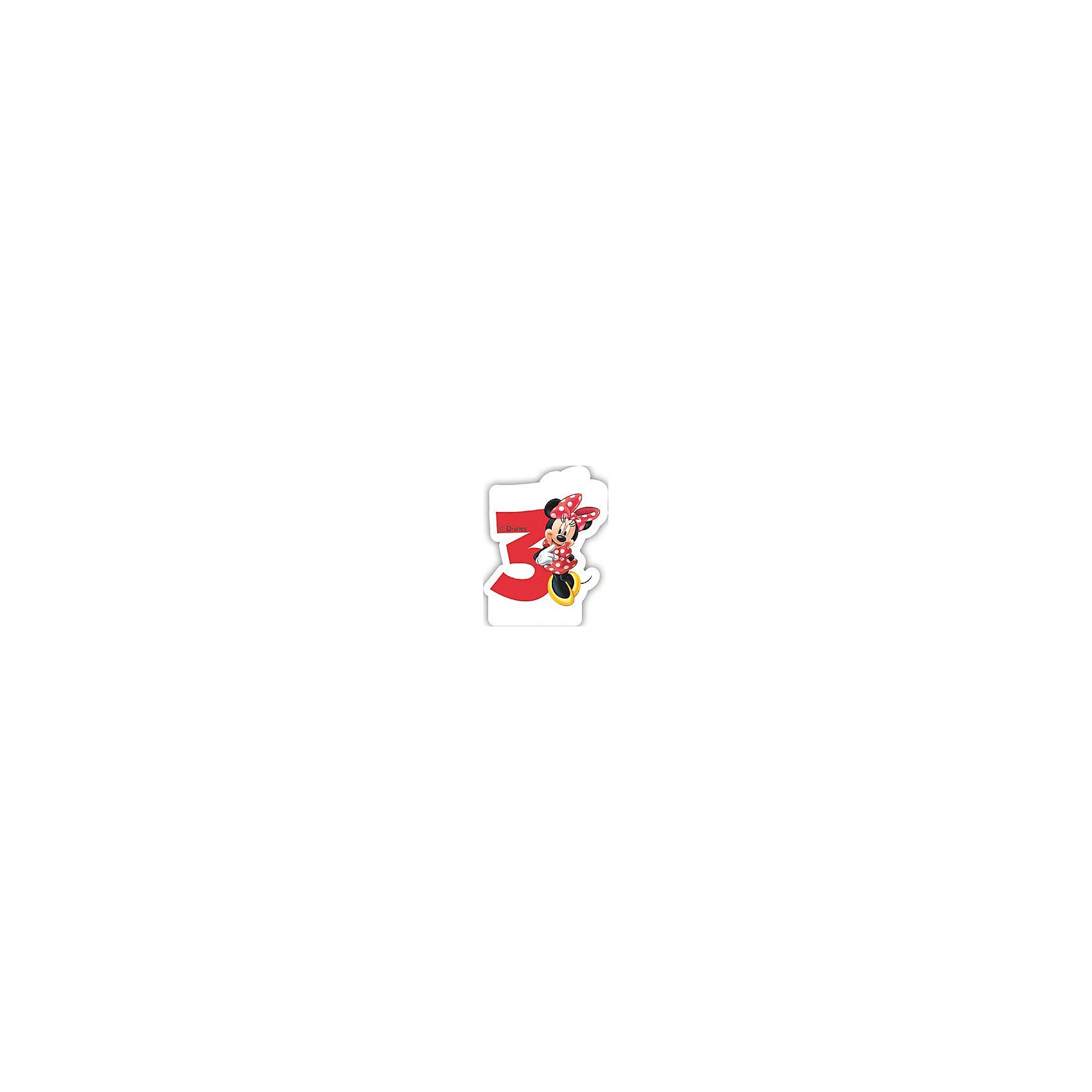 Объемная свечка Кафе Минни 3 годаОбъемная свечка Кафе Минни,  украсит праздничный торт Вашей малышки на ее 3-летие. Свечка выполнена в форме цифры 3 с фигуркой веселой мышки Минни из популярных диснеевских мультфильмов о мышонке Микки-Маусе и его друзьях. Яркая оригинальная свечка создаст волшебную атмосферу и уют на любимом детском празднике.<br><br>Дополнительная информация:<br><br>- Материал: парафин. <br>- Размер: 2,6 х 8,8 х 13 см.<br>- Вес: 150 гр. <br><br>Объемную свечку Кафе Минни 3 года можно купить в нашем интернет-магазине.<br><br>Ширина мм: 26<br>Глубина мм: 88<br>Высота мм: 130<br>Вес г: 150<br>Возраст от месяцев: 36<br>Возраст до месяцев: 168<br>Пол: Женский<br>Возраст: Детский<br>SKU: 4008409