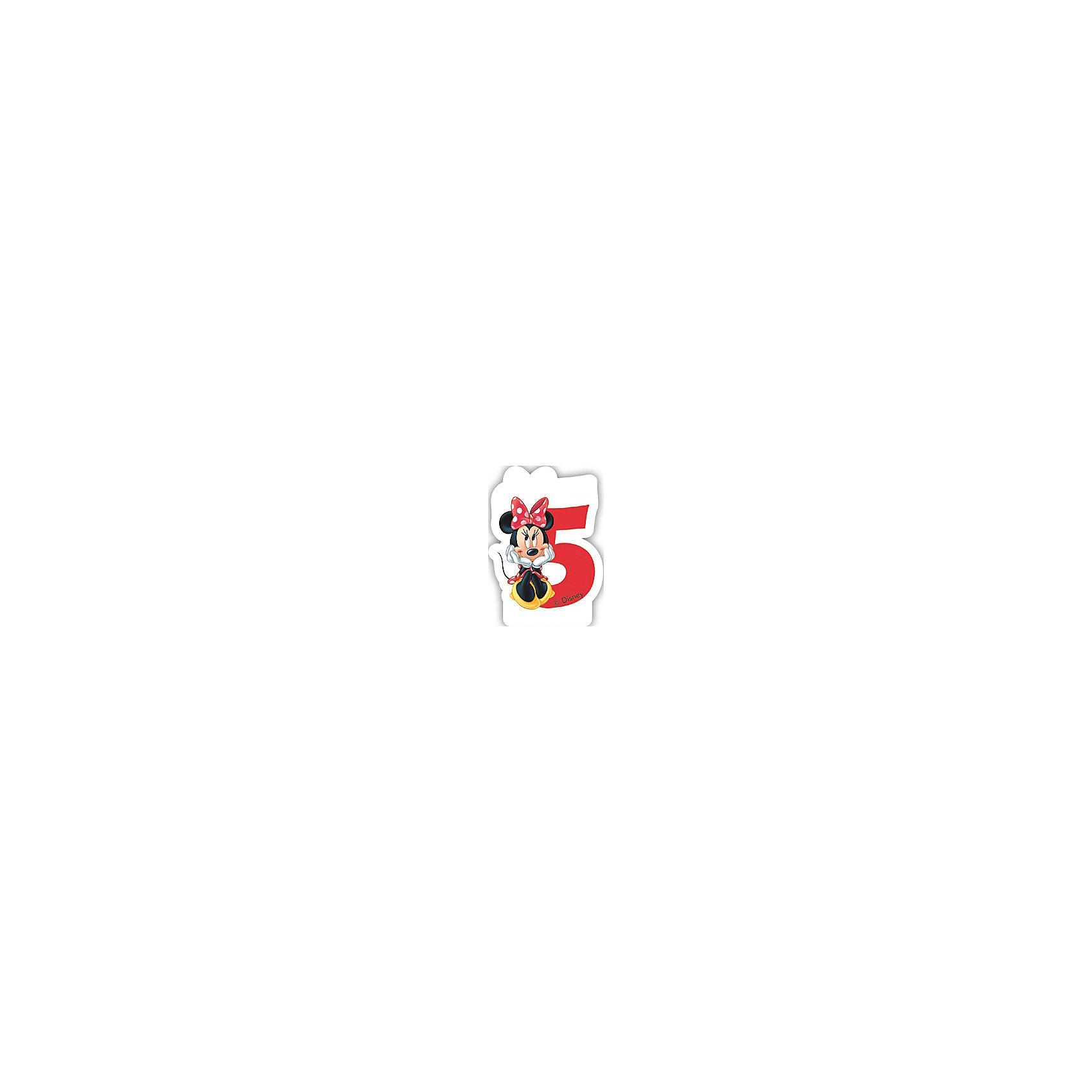 Объемная свечка Кафе Минни 5 летМинни Маус<br>Объемная свечка Кафе Минни,  украсит праздничный торт Вашей малышки на ее 5-летие. Свечка выполнена в форме цифры 5 с фигуркой веселой мышки Минни из популярных диснеевских мультфильмов о мышонке Микки-Маусе и его друзьях. Яркая оригинальная свечка создаст волшебную атмосферу и уют на любимом детском празднике.<br><br>Дополнительная информация:<br><br>- Материал: парафин. <br>- Размер: 2,6 х 8,8 х 13 см.<br>- Вес: 150 гр. <br><br>Объемную свечку Кафе Минни 5 лет  можно купить в нашем интернет-магазине.<br><br>Ширина мм: 26<br>Глубина мм: 88<br>Высота мм: 130<br>Вес г: 150<br>Возраст от месяцев: 36<br>Возраст до месяцев: 168<br>Пол: Женский<br>Возраст: Детский<br>SKU: 4008411