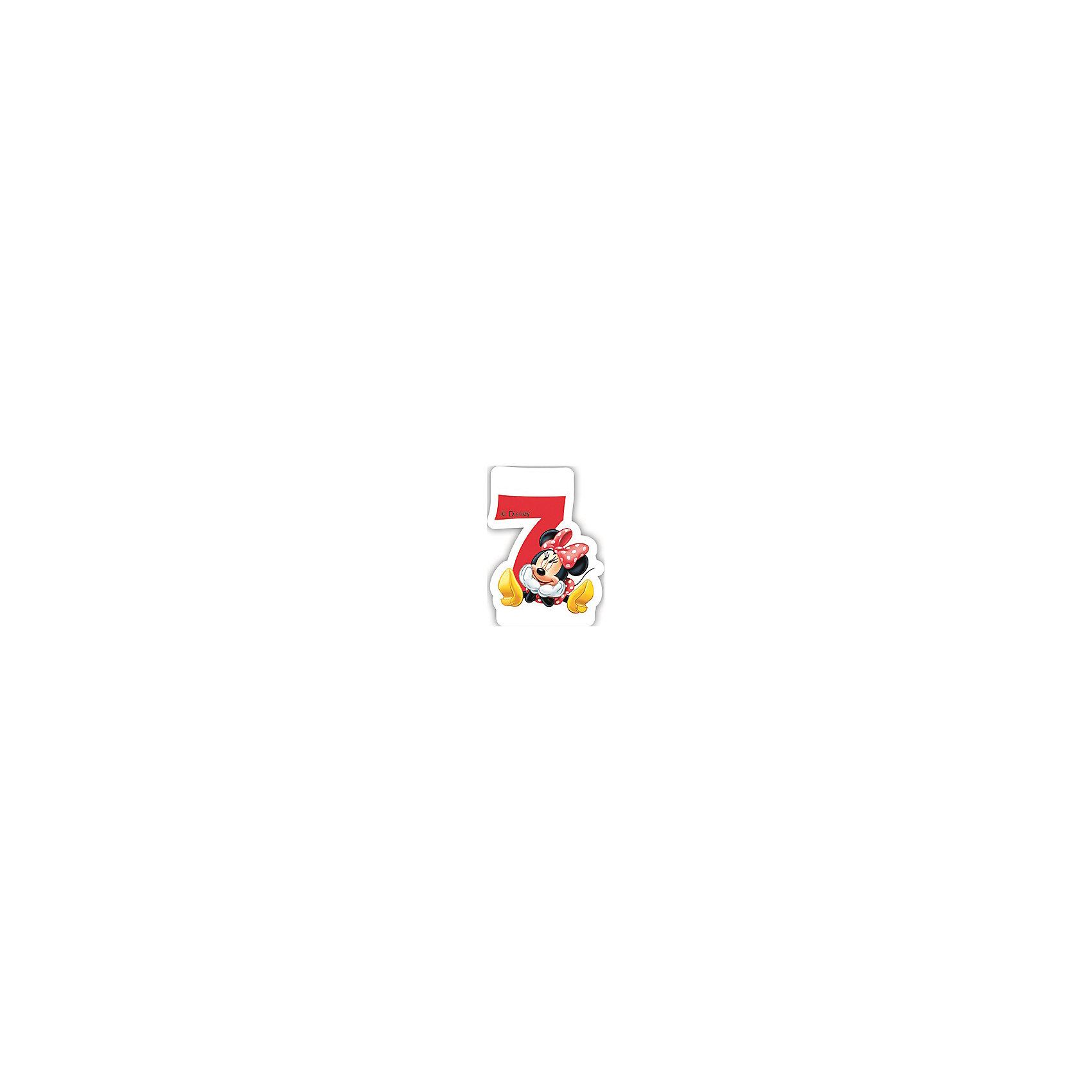 Объемная свечка Кафе Минни 7 летМинни Маус<br>Объемная свечка Кафе Минни,  украсит праздничный торт юной именинницы на ее 7-летие. Свечка выполнена в форме цифры 7 с фигуркой веселой мышки Минни из популярных диснеевских мультфильмов о мышонке Микки-Маусе и его друзьях. Яркая оригинальная свечка создаст волшебную атмосферу и уют на любимом детском празднике.<br><br>Дополнительная информация:<br><br>- Материал: парафин. <br>- Размер: 2,6 х 8,8 х 13 см.<br>- Вес: 150 гр. <br><br>Объемную свечку Кафе Минни 7 лет можно купить в нашем интернет-магазине.<br><br>Ширина мм: 26<br>Глубина мм: 88<br>Высота мм: 130<br>Вес г: 150<br>Возраст от месяцев: 36<br>Возраст до месяцев: 168<br>Пол: Женский<br>Возраст: Детский<br>SKU: 4008413