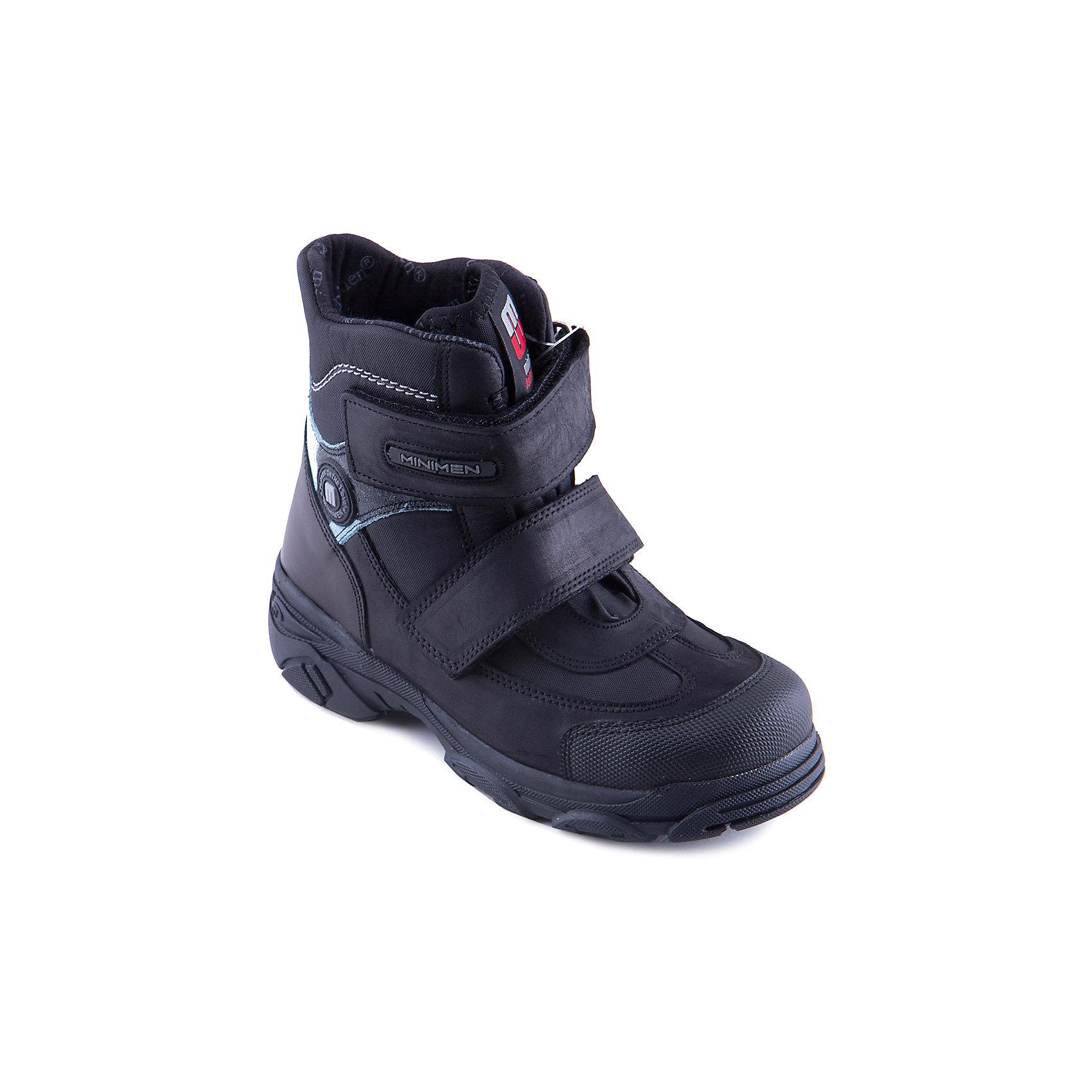 Ботинки для мальчика MinimenБотинки<br>Модные демисезонные полусапоги для мальчика от известного турецкого бренда Minimen. Изделие предназначено для использования в сухую погоду при температуре воздуха выше -5 градусов и обладает следующими особенностями:<br>- практичная расцветка, привлекательный дизайн;<br>- удобная застежка: 2 ремешка с велкро;<br>- усиленный противоударный мыс;<br>- укрепленный задник, стабилизирующий пятку;<br>- мягкий язычок, исключающий дискомфорт;<br>- теплая текстильная подкладка;<br>- стелька с супинатором обеспечивает правильную поддержку стопы;<br>- легкая нескользящая подошва.<br>Отличные полусапожки для Вашего ребенка!<br><br>Дополнительная информация:<br>- Температурный режим: выше -5 градусов<br>- Состав:<br>Материал верха: натуральная кожа  <br>Материал подкладки: текстиль (100% хлопок)<br><br>Полусапоги для мальчика Minimen (Минимен) можно купить в нашем магазине<br><br>Ширина мм: 257<br>Глубина мм: 180<br>Высота мм: 130<br>Вес г: 420<br>Цвет: черный<br>Возраст от месяцев: 12<br>Возраст до месяцев: 15<br>Пол: Мужской<br>Возраст: Детский<br>Размер: 21,33,25,22,24,23,35,34,32,31,36<br>SKU: 4008615