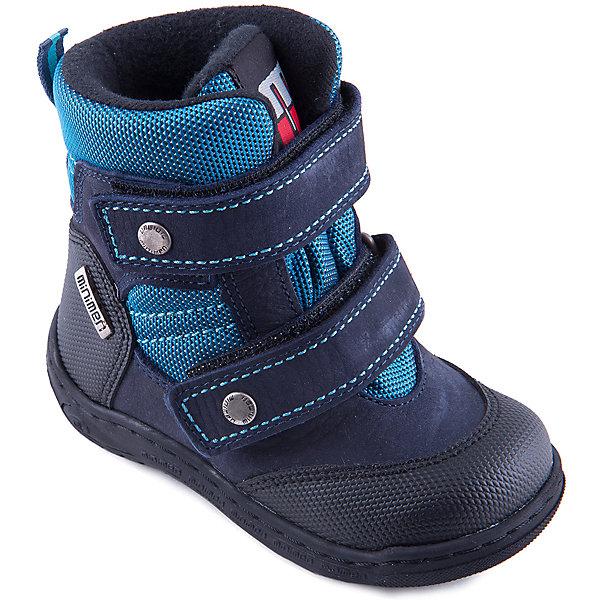 Ботинки для мальчика MinimenОбувь для малышей<br>Модные демисезонные полусапоги для мальчика от известного турецкого бренда Minimen. Изделие предназначено для использования в сухую погоду при температуре воздуха выше -5 градусов и обладает следующими особенностями:<br>- практичная расцветка, привлекательный дизайн;<br>- удобная застежка: 2 ремешка с велкро;<br>- усиленный противоударный мыс;<br>- укрепленный задник, стабилизирующий пятку;<br>- мягкий язычок, исключающий дискомфорт;<br>- теплая текстильная подкладка;<br>- стелька с супинатором обеспечивает правильную поддержку стопы;<br>- легкая нескользящая подошва.<br>Отличные полусапожки для Вашего ребенка!<br><br>Дополнительная информация:<br>- Температурный режим: выше -5 градусов<br>- Состав:<br>Материал верха: натуральная кожа  <br>Материал подкладки: текстиль (100% хлопок)<br><br>Полусапоги для мальчика Minimen (Минимен) можно купить в нашем магазине<br>Ширина мм: 257; Глубина мм: 180; Высота мм: 130; Вес г: 420; Цвет: синий; Возраст от месяцев: 9; Возраст до месяцев: 12; Пол: Мужской; Возраст: Детский; Размер: 20,24,21,22,27,26,28,23; SKU: 4008737;