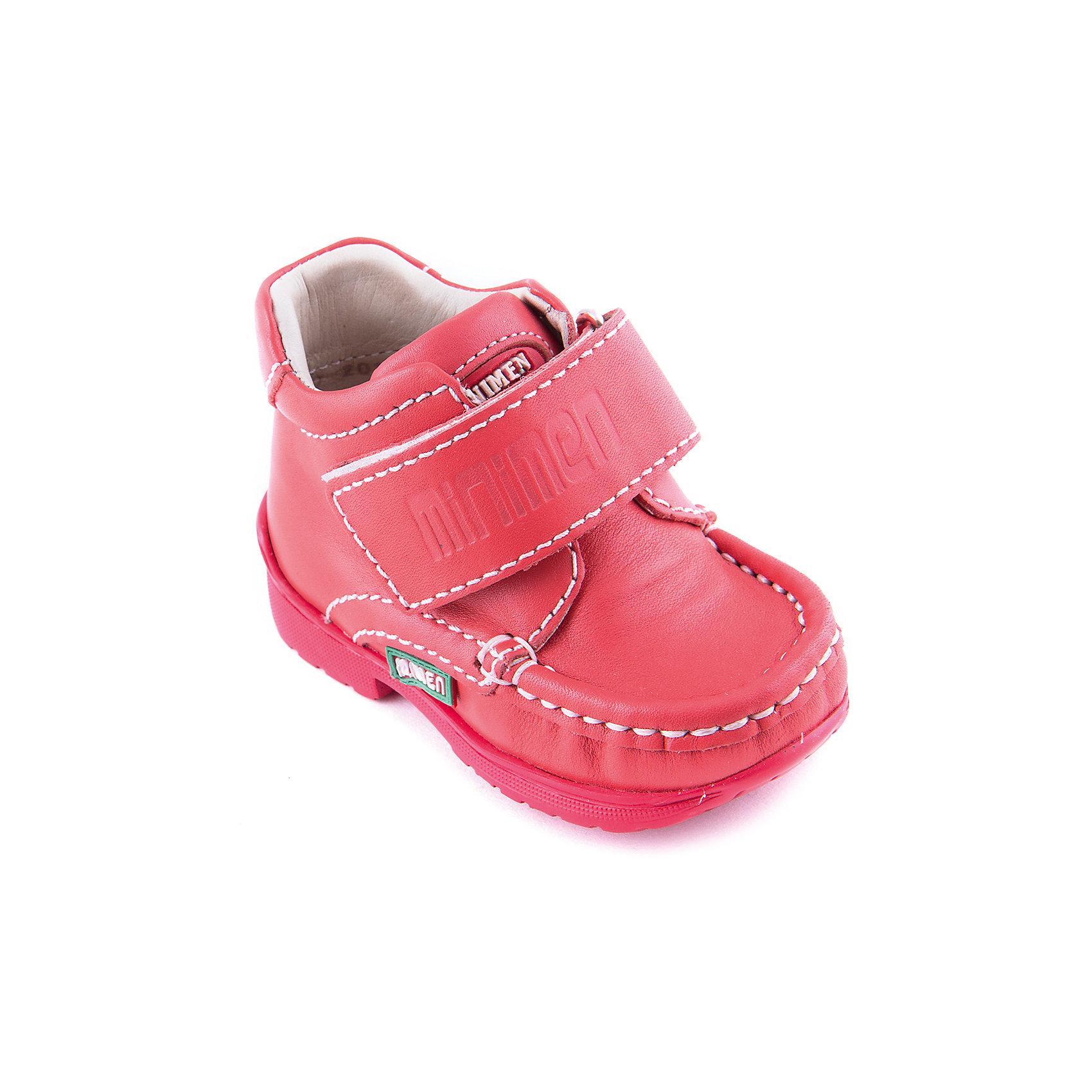 Ботинки для девочки MinimenЯркие ортопедические ботинки из натуральной кожи для девочки от известного турецкого бренда Minimen. Изделие предназначено для использования в сухую погоду при температуре воздуха выше +10 градусов и обладает следующими особенностями:<br>- насыщенный красный цвет, привлекательный дизайн;<br>- удобная застежка: широкий ремешок с велкро;<br>- высокий укрепленный задник, надежно фиксирующий пятку;<br>- мягкий верхний задник, обеспечивающий комфорт и предотвращающий скольжение ступни;<br>- подкладка из натуральной кожи позволяет коже дышать;<br>- смягченная стелька SOFT EFFECT с супинатором обеспечивает отличную поддержку стопы;<br>- легкая нескользящая подошва с каблуком Томаса.<br>Лучшая ортопедическая обувь для любимых ножек.<br><br>Дополнительная информация:<br>- Температурный режим: выше +10 градусов<br>- Состав: <br>Материал верха: натуральная кожа 100%; <br>Материал подкладки: натуральная кожа 100%; <br>Материал подошвы: термопластик 100%<br><br>Ботинки для девочки Minimen (Минимен) можно купить в нашем магазине<br><br>Ширина мм: 262<br>Глубина мм: 176<br>Высота мм: 97<br>Вес г: 427<br>Цвет: красный<br>Возраст от месяцев: 12<br>Возраст до месяцев: 15<br>Пол: Женский<br>Возраст: Детский<br>Размер: 21,20,19,22<br>SKU: 4008781