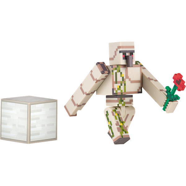 Фигурка Железный голем, 8см, MinecraftКоллекционные и игровые фигурки<br>Фигурка Железный голем, 8см, Minecraft (Майнкрафт) – это игровой набор, выполненный по мотивам культовой игры Майнкрафт.<br>Фигурка Железный голем является точной копией персонажа из популярной игры Minecraft. Все части тела фигурки подвижны, поэтому Голем будет ходить так же, как в игре и защитит от любых неприятностей. В руке он держит алую розу, дополнительно предусмотрен кубик. Железный Голем – это отличный подарок для всех поклонников Minecraft. Пластиковый герой украсит рабочее место или книжку полку, отлично подойдет для игры в Minecraft в реальном мире. Если вы хотите, что ребенок меньше сидел за компьютером, подарите ему фигурку Железного голема.<br><br>Дополнительная информация:<br><br>- В комплекте: фигурка железного голема, пиксельный кубик, цветок<br>- Материал: высококачественный пластик<br>- Размер: 8 см.<br>- Размер упаковки: 18 x 16 x 3 см.<br><br>Фигурку Железный голем, 8см, Minecraft (Майнкрафт) можно купить в нашем интернет-магазине.<br>Ширина мм: 178; Глубина мм: 147; Высота мм: 50; Вес г: 101; Возраст от месяцев: 36; Возраст до месяцев: 96; Пол: Мужской; Возраст: Детский; SKU: 4009821;