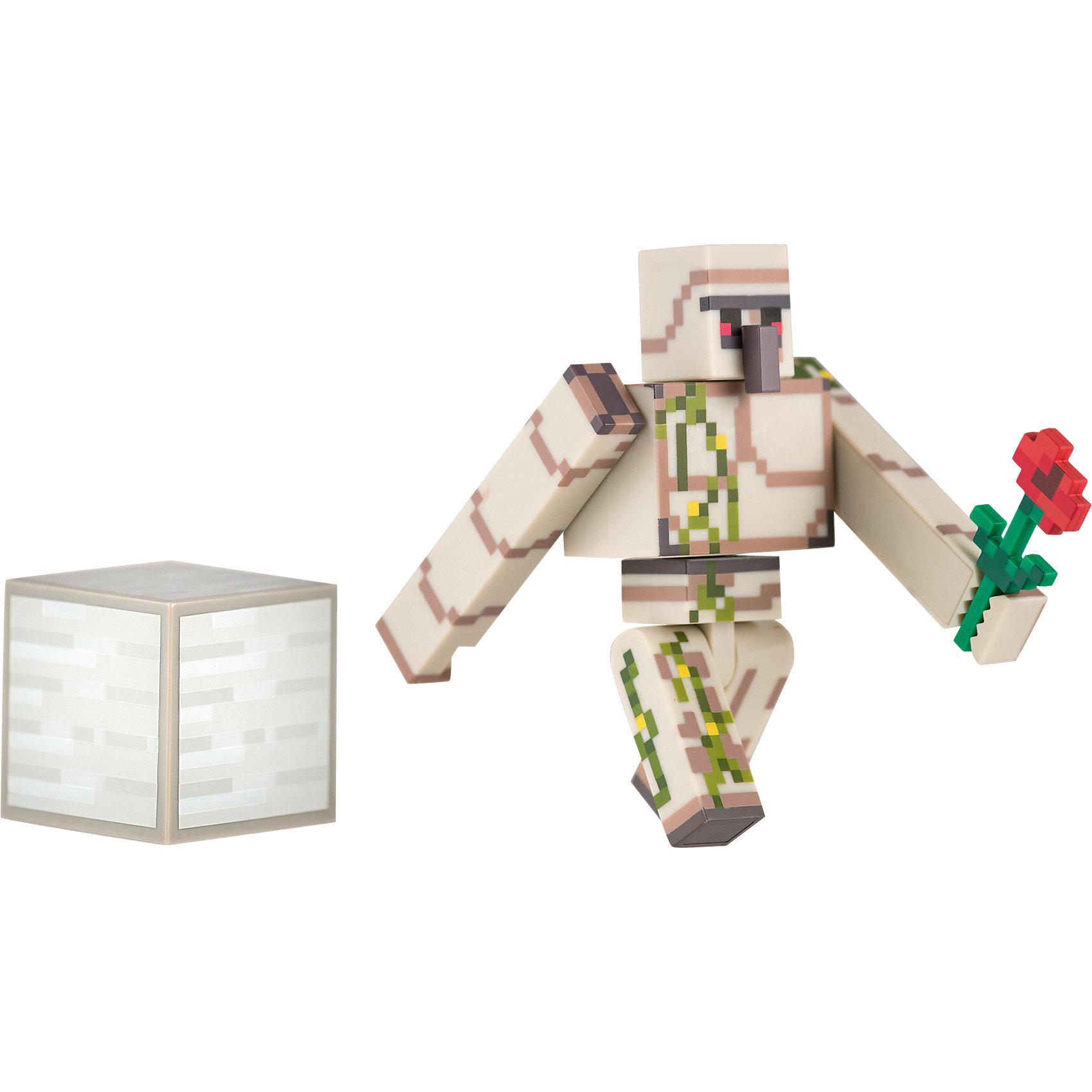 Фигурка Железный голем, 8см, MinecraftКоллекционные и игровые фигурки<br>Фигурка Железный голем, 8см, Minecraft (Майнкрафт) – это игровой набор, выполненный по мотивам культовой игры Майнкрафт.<br>Фигурка Железный голем является точной копией персонажа из популярной игры Minecraft. Все части тела фигурки подвижны, поэтому Голем будет ходить так же, как в игре и защитит от любых неприятностей. В руке он держит алую розу, дополнительно предусмотрен кубик. Железный Голем – это отличный подарок для всех поклонников Minecraft. Пластиковый герой украсит рабочее место или книжку полку, отлично подойдет для игры в Minecraft в реальном мире. Если вы хотите, что ребенок меньше сидел за компьютером, подарите ему фигурку Железного голема.<br><br>Дополнительная информация:<br><br>- В комплекте: фигурка железного голема, пиксельный кубик, цветок<br>- Материал: высококачественный пластик<br>- Размер: 8 см.<br>- Размер упаковки: 18 x 16 x 3 см.<br><br>Фигурку Железный голем, 8см, Minecraft (Майнкрафт) можно купить в нашем интернет-магазине.<br><br>Ширина мм: 178<br>Глубина мм: 147<br>Высота мм: 50<br>Вес г: 101<br>Возраст от месяцев: 36<br>Возраст до месяцев: 96<br>Пол: Мужской<br>Возраст: Детский<br>SKU: 4009821