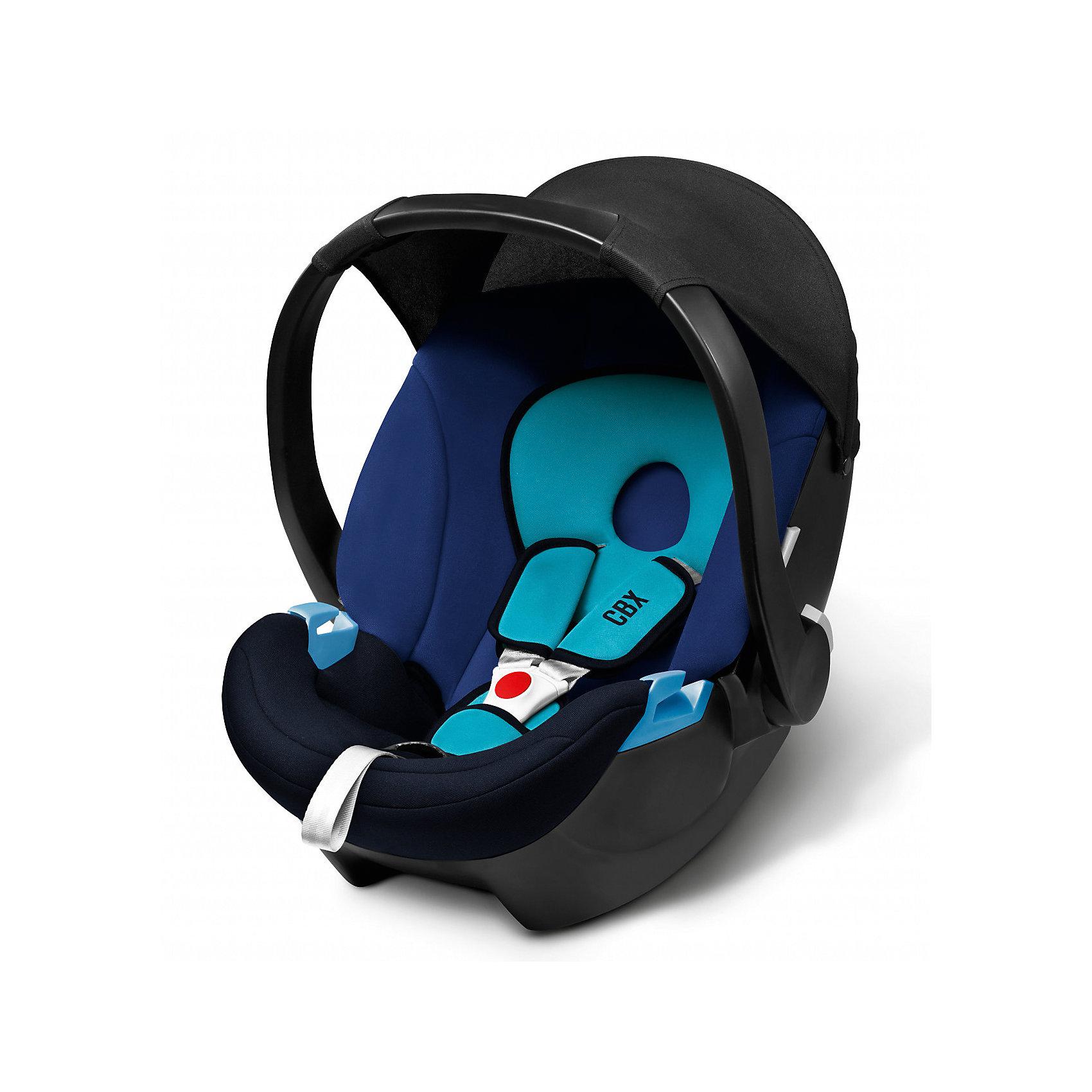 Автокресло Aton Basic , 0-13 кг, CBX by Cybex, синийЛегкое, комфортное ипросторное автокресло для самых маленьких сулучшенной, развитой боковой защитой. Солнцезащитный козырек защищает ребенка отпрямых солнечных лучей. Трехточечные ремни безопасности с мягкими накладками комфортно и надежно удержат малыша. Возможна установка нашасси колясок Cybex спомощью специальных адаптеров. Изогнутое основание позволяет укачивать малыша. Ручка для переноски имеет три положения. Обивка выполнена изгипоаллергенных тканей, легко снимаются для деликатной стирки. <br><br>Дополнительная информация:<br><br>- Материал: пластик, текстиль.<br>- Размер: 63х47х56 см.<br>- Вес кресла: 2,9 кг.<br>- Трехточечные ремни безопасности.<br>- Установка в автомобиле: против движения.<br>- Три положения ручки для переноски.<br>- Съемная обивка ( стирка при 30?).<br>- Максимальный вес ребенка: 13 кг.<br>- Изогнутое основание.<br>- Солнцезащитный козырек.<br>- Цвет: синий.<br><br>Автокресло Aton Basic , 0-13 кг, CBX by Cybex (Сайбекс), синее можно купить в нашем магазине.<br><br>Ширина мм: 530<br>Глубина мм: 450<br>Высота мм: 700<br>Вес г: 8600<br>Возраст от месяцев: 0<br>Возраст до месяцев: 12<br>Пол: Мужской<br>Возраст: Детский<br>SKU: 4009842