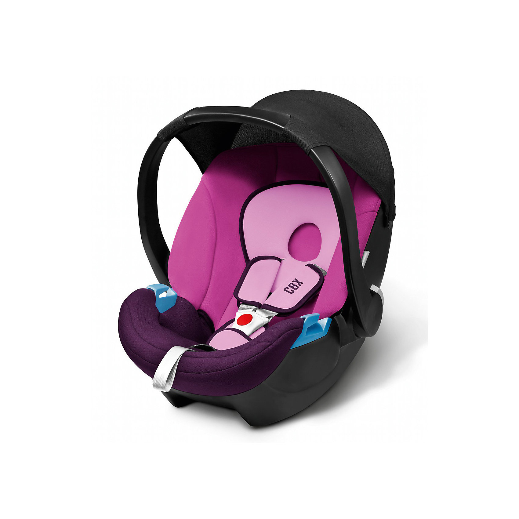 Автокресло CBX by Cybex Aton Basic , 0-13 кг, фиолетовыйГруппа 0+ (До 13 кг)<br>Легкое, комфортное ипросторное автокресло для самых маленьких сулучшенной, развитой боковой защитой. Солнцезащитный козырек защищает ребенка отпрямых солнечных лучей. Трехточечные ремни безопасности с мягкими накладками комфортно и надежно удержат малыша. Возможна установка нашасси колясок Cybex спомощью специальных адаптеров. Изогнутое основание позволяет укачивать малыша. Ручка для переноски имеет три положения. Обивка выполнена изгипоаллергенных тканей, легко снимаются для деликатной стирки. <br><br>Дополнительная информация:<br><br>- Материал: пластик, текстиль.<br>- Размер: 63х47х56 см.<br>- Вес кресла: 2,9 кг.<br>- Трехточечные ремни безопасности.<br>- Установка в автомобиле: против движения.<br>- Три положения ручки для переноски.<br>- Съемная обивка ( стирка при 30? ).<br>- Максимальный вес ребенка: 13 кг.<br>- Изогнутое основание.<br>- Солнцезащитный козырек.<br>- Цвет: фиолетовый.<br><br>Автокресло Aton Basic , 0-13 кг, CBX by Cybex (Сайбекс), фиолетовое можно купить в нашем магазине.<br><br>Ширина мм: 530<br>Глубина мм: 450<br>Высота мм: 700<br>Вес г: 8600<br>Возраст от месяцев: 0<br>Возраст до месяцев: 12<br>Пол: Женский<br>Возраст: Детский<br>SKU: 4009843