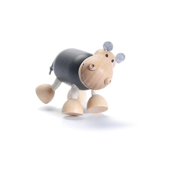 Бегемотик,AnaMalzМир животных<br>Милые деревянные зверюшки AnaMalz очаруют и детей и их родителей, а их трогательный внешний вид и оригинальный современный дизайн изменят Ваше привычное представление о деревянных игрушках. Придуманные австралийским дизайнером Луизой Косан-Скотт, деревянные фигурки покоряют своим уютом и пластичностью и уже завоевали множество наград, включая международную премию в области дизайна Standards Australia. Для изготовления игрушек используется быстрорастущее игольчатое дерево (schima superba), которое специально выращивают на плантациях. Отдельные детали зверюшек выполнены из натуральных тканей и термопластичной резины (TPR) - безопасного материала, который является экологичной альтернативой пластмассе. Все фигурки AnaMalz раскрашиваются вручную с использованием безопасной для детей краски.<br><br>У доброго деревянного бегемотика AnaMalz веселая забавная мордочка и широкая улыбка, ноздри напоминают две пуговки. Ноги фигурки сделаны из гибкой веревки и гнутся в разные стороны, что позволяет бегемотику принимать различные позы. Туловище, голова и копыта выполнены из дерева, а уши из мягкой натуральной ткани. Бегемотик раскрашен безопасными для детей красками. Игрушка, выполненная из дерева и различных фактур способствует развитию у ребенка тактильного восприятия и мелкой моторики.<br><br>Дополнительная информация:<br><br>- Материал: дерево, ткань.<br>- Размер: 8 х 15 см.<br>- Вес: 0,1 кг.<br><br>Бегемотика, AnaMalz, можно купить в нашем интернет-магазине.<br><br>Ширина мм: 11<br>Глубина мм: 5<br>Высота мм: 9<br>Вес г: 96<br>Возраст от месяцев: 36<br>Возраст до месяцев: 168<br>Пол: Унисекс<br>Возраст: Детский<br>SKU: 4010623