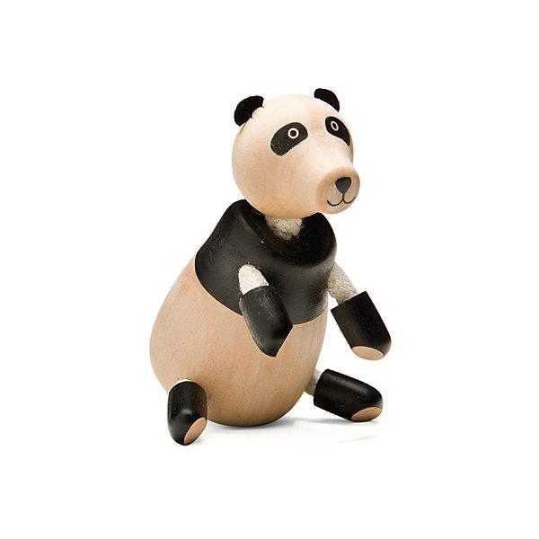 Панда,  AnaMalzИгровые фигурки животных<br>Милые деревянные зверюшки AnaMalz очаруют и детей и их родителей, а их трогательный внешний вид и оригинальный современный дизайн изменят Ваше привычное представление о деревянных игрушках. Придуманные австралийским дизайнером Луизой Косан-Скотт, деревянные фигурки покоряют своим уютом и пластичностью и уже завоевали множество наград, включая международную премию в области дизайна Standards Australia. Для изготовления игрушек используется быстрорастущее игольчатое дерево (schima superba), которое специально выращивают на плантациях. Отдельные детали зверюшек выполнены из натуральных тканей и термопластичной резины (TPR) - безопасного материала, который является экологичной альтернативой пластмассе. Все фигурки AnaMalz раскрашиваются вручную с использованием безопасной для детей краски.<br><br>Очаровательная деревянная панда AnaMalz с приветливой мордочкой займет достойное место среди игрушек Вашего ребенка. Голова, туловище и конечности фигурки выполнены из дерева и имеют гладкую, приятную на ощупь поверхность. У панды мягкие фетровые ушки, ноги сделаны из гибкой веревки и гнутся в разные стороны, что позволяет игрушке принимать различные позы. Фигурка, выполненная из дерева и различных фактур, способствует развитию у ребенка тактильного восприятия и мелкой моторики.<br><br>Дополнительная информация:<br><br>- Материал: дерево, ткань.<br>- Размер игрушки: 9 х 5 х 5 см.<br>- Вес: 53 гр.<br><br>Панду, AnaMalz, можно купить в нашем интернет-магазине.<br><br>Ширина мм: 5<br>Глубина мм: 5<br>Высота мм: 9<br>Вес г: 53<br>Возраст от месяцев: 36<br>Возраст до месяцев: 168<br>Пол: Унисекс<br>Возраст: Детский<br>SKU: 4010628
