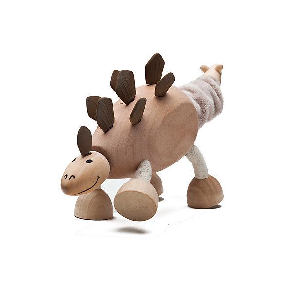 Стегозавр,  AnaMalzИгровые фигурки животных<br>Милые деревянные зверюшки AnaMalz очаруют и детей и их родителей, а их трогательный внешний вид и оригинальный современный дизайн изменят Ваше привычное представление о деревянных игрушках. Придуманные австралийским дизайнером Луизой Косан-Скотт, деревянные фигурки покоряют своим уютом и пластичностью и уже завоевали множество наград, включая международную премию в области дизайна Standards Australia. Для изготовления игрушек используется быстрорастущее игольчатое дерево (schima superba), которое специально выращивают на плантациях. Отдельные детали зверюшек выполнены из натуральных тканей и термопластичной резины (TPR) - безопасного материала, который является экологичной альтернативой пластмассе. Все фигурки AnaMalz раскрашиваются вручную с использованием безопасной для детей краски.<br><br>Мощный динозавр AnaMalz добродушный и приветливый и совсем не страшный. Голова, туловище и лапы стегозавра выполнены из дерева и имеют гладкую, приятную на ощупь поверхность. У фигурки подвижный мягкий хвост, на спине чешуйки из термопластичной резины (TPR). Ноги сделаны из гибкой веревки и гнутся в разные стороны, что позволяет игрушке принимать различные позы. Фигурка, выполненная из дерева и различных фактур, способствует развитию у ребенка тактильного восприятия и мелкой моторики.<br><br>Дополнительная информация:<br><br>- Материал: дерево, ткань, термопластичная резина.<br>- Размер игрушки: 19 х 4 х 10 см.<br>- Вес: 102 гр.<br><br>Стегозавра, AnaMalz, можно купить в нашем интернет-магазине.<br><br>Ширина мм: 19<br>Глубина мм: 4<br>Высота мм: 10<br>Вес г: 102<br>Возраст от месяцев: 36<br>Возраст до месяцев: 168<br>Пол: Унисекс<br>Возраст: Детский<br>SKU: 4010634