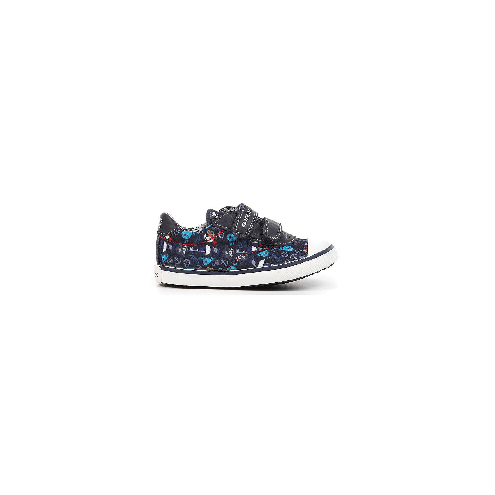 Кроссовки для мальчика GEOXУдобнейшие кроссовки GEOX (ГЕОКС) с защищенным носком - то что нужно для активного крохи. Стильные городские кроссовки с пиратским принтом создадут настроение. Очень быстро одеваются и очень легко носятся. Благодаря своему опыту специалисты компании GEOX (ГЕОКС) точно знают, что необходимо ногам ребенка каждого возраста. Эти кроссовки специально созданы, чтобы помочь малышам правильно развивать стопу, давая ей необходимую поддержку. Полимерная подошва этой модели создана по эксклюзивной технологии GEOX (ГЕОКС) и снабжена дышащей и водонепроницаемой мембраной, что способствует естественной терморегуляции и создает внутри обуви идеальный микроклимат.  <br><br>Дополнительная информация:<br><br>- Сезон: весна/лето;<br>- Запатентованная мембранная технология Breathable;<br>- Материал верха: 90 % нейлон, 10 % полиэстер;     <br>- Материал подошвы: резина;                                                                                                                     <br>- Подкладка: хлопок;<br>- Стильный дизайн.<br>                                                         <br>Кроссовки для мальчика GEOX (ГЕОКС) можно купить в нашем интернет-магазине.<br><br>Ширина мм: 250<br>Глубина мм: 150<br>Высота мм: 150<br>Вес г: 250<br>Цвет: синий<br>Возраст от месяцев: 15<br>Возраст до месяцев: 18<br>Пол: Мужской<br>Возраст: Детский<br>Размер: 22,25,24,27,26,23<br>SKU: 4011827