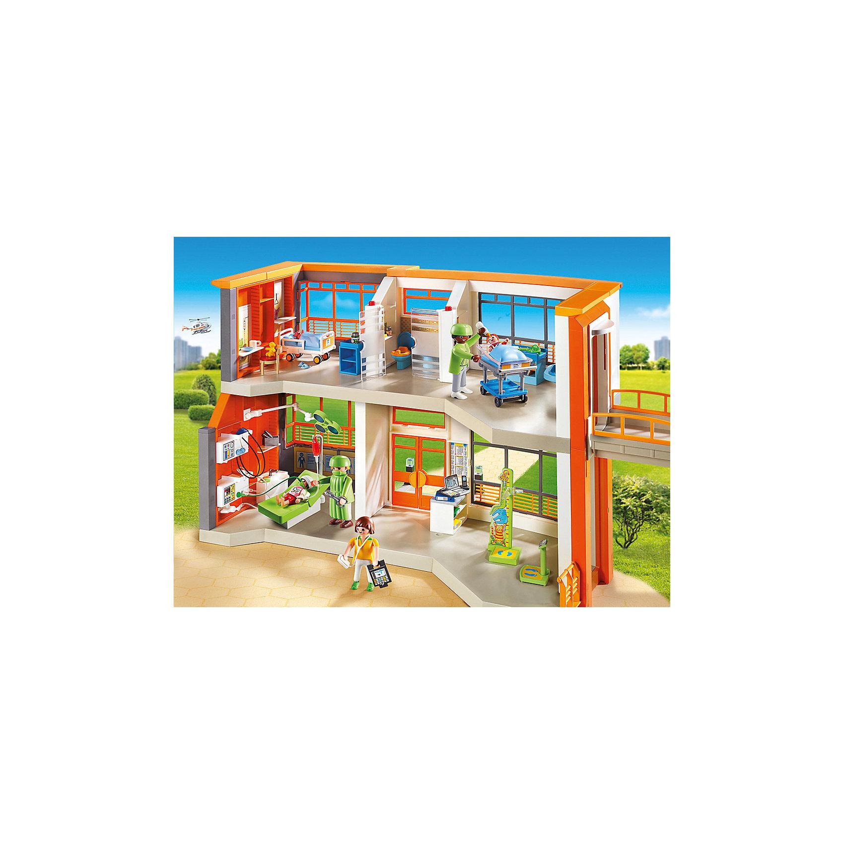 PLAYMOBIL® Детская клиника: Меблированная детская больница, PLAYMOBIL playmobil® зоопарк стая фламинго playmobil