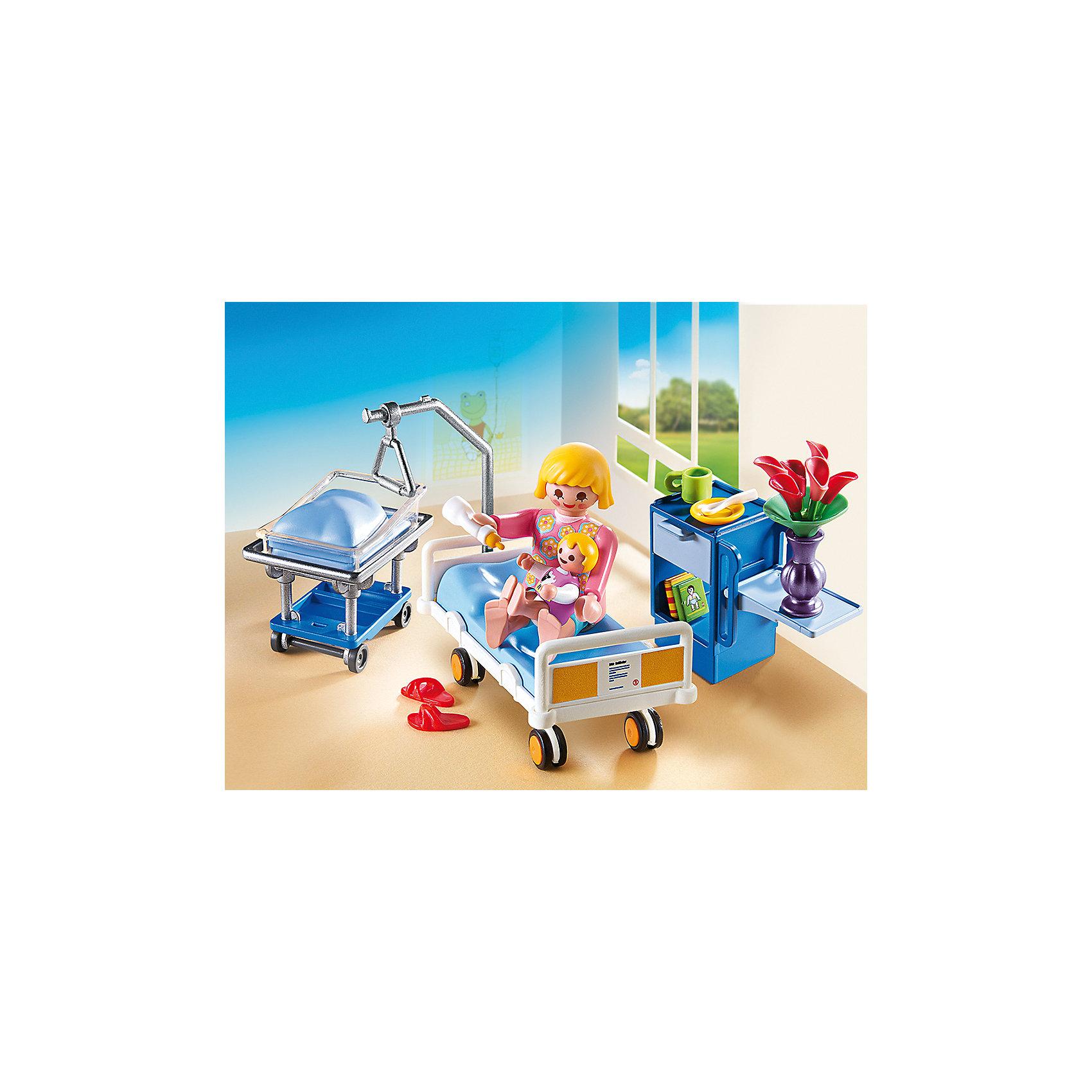 PLAYMOBIL® Детская клиника: Комната матери и ребенка, PLAYMOBIL playmobil® playmobil 5546 парк развлечений продавец шаров smileyworld