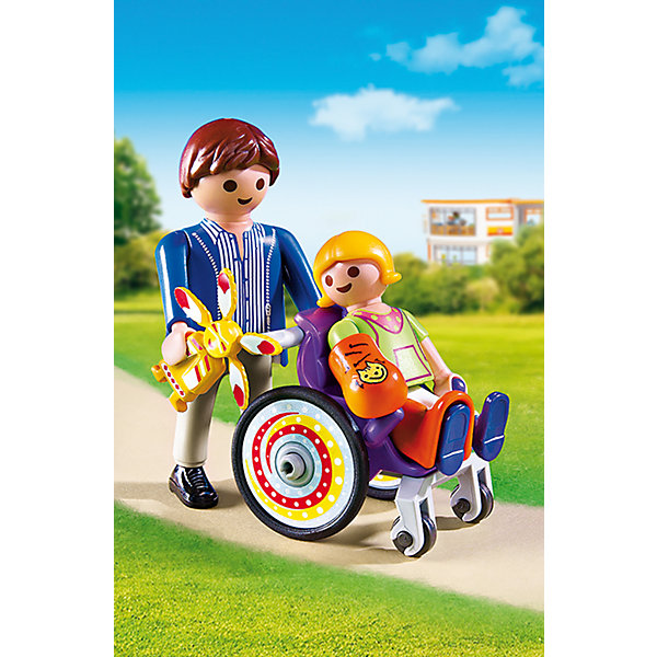 Детская клиника: Ребенок в коляске, PLAYMOBILПластмассовые конструкторы<br>Малышка выздоровела и наконец-то уезжает из больницы домой! Посмотри, как она радуется приехавшему за ней папе! В набор входят две фигурки, детская коляска и аксессуары, которые сделают игру еще реалистичнее и увлекательнее.  Фигурки имеют подвижные конечности. Все детали прекрасно проработаны и выполнены из высококачественного экологичного пластика безопасного для детей. Играть с таким набором не только приятно и интересно - подобные виды игры развивают мелкую моторику, воображение, творческое мышление.<br><br>Дополнительная информация:<br><br>- 2 фигурки в наборе. <br>- Комплектация: 2 фигурки, коляска, аксессуары.<br>- Материал: пластик.<br>- Размер упаковки: 15х10х5 см.<br>- Высота фигурки: 7,5 см.<br>- Высота фигурки ребенка: 5,5 см.<br>- Голова, руки, ноги у фигурок подвижные.<br><br>Экстра-набор: Мастер с инструментами на велосипеде, PLAYMOBIL (Плеймобил), можно купить в нашем магазине.<br><br>Ширина мм: 147<br>Глубина мм: 96<br>Высота мм: 48<br>Вес г: 69<br>Возраст от месяцев: 48<br>Возраст до месяцев: 120<br>Пол: Унисекс<br>Возраст: Детский<br>SKU: 4012468