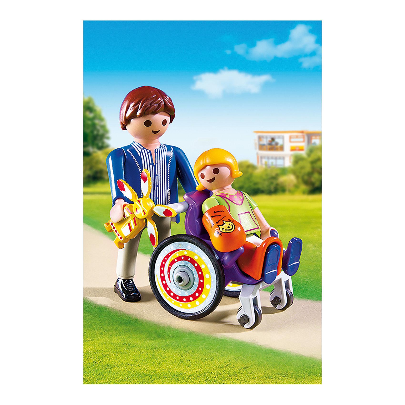 Детская клиника: Ребенок в коляске, PLAYMOBILПластмассовые конструкторы<br>Малышка выздоровела и наконец-то уезжает из больницы домой! Посмотри, как она радуется приехавшему за ней папе! В набор входят две фигурки, детская коляска и аксессуары, которые сделают игру еще реалистичнее и увлекательнее.  Фигурки имеют подвижные конечности. Все детали прекрасно проработаны и выполнены из высококачественного экологичного пластика безопасного для детей. Играть с таким набором не только приятно и интересно - подобные виды игры развивают мелкую моторику, воображение, творческое мышление.<br><br>Дополнительная информация:<br><br>- 2 фигурки в наборе. <br>- Комплектация: 2 фигурки, коляска, аксессуары.<br>- Материал: пластик.<br>- Размер упаковки: 15х10х5 см.<br>- Высота фигурки: 7,5 см.<br>- Высота фигурки ребенка: 5,5 см.<br>- Голова, руки, ноги у фигурок подвижные.<br><br>Экстра-набор: Мастер с инструментами на велосипеде, PLAYMOBIL (Плеймобил), можно купить в нашем магазине.<br><br>Ширина мм: 147<br>Глубина мм: 96<br>Высота мм: 50<br>Вес г: 67<br>Возраст от месяцев: 48<br>Возраст до месяцев: 120<br>Пол: Унисекс<br>Возраст: Детский<br>SKU: 4012468