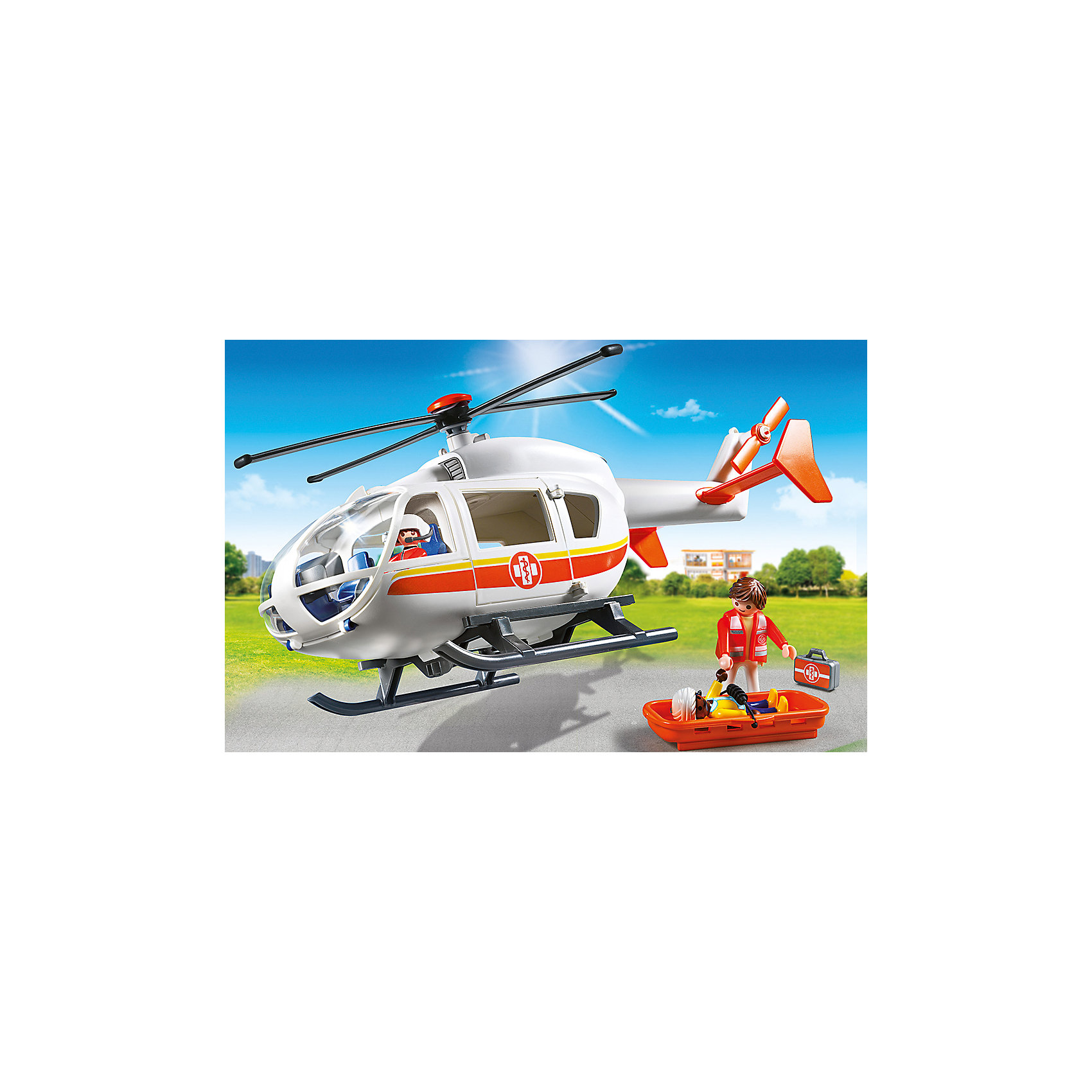 Детская клиника: Вертолет скорой помощи, PLAYMOBIL<br><br>Ширина мм: 387<br>Глубина мм: 248<br>Высота мм: 129<br>Вес г: 652<br>Возраст от месяцев: 48<br>Возраст до месяцев: 120<br>Пол: Унисекс<br>Возраст: Детский<br>SKU: 4012470
