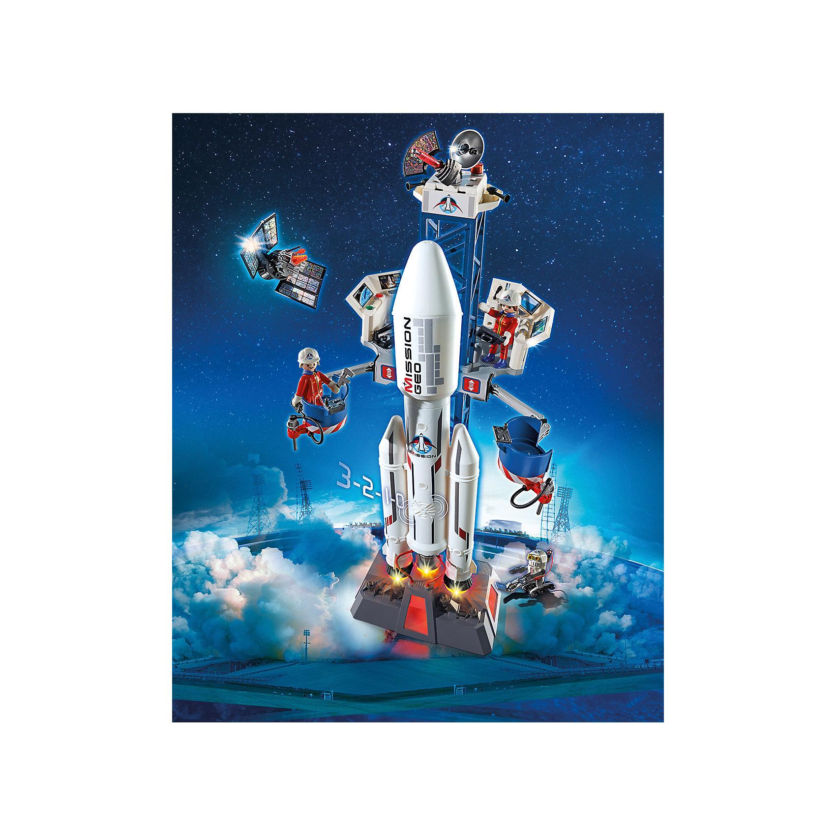 Космическая миссия: Космическая ракета с базовой станцией, PlaymobilОтправляйся в космос вместе с этим замечательным набором. Скорее снаряжай экспедицию и готовь к отправке космический корабль. Подвижная платформа может регулироваться в четырех позициях. Транспортные контейнеры могут быть отцеплены от ракеты. У подножия стартовой платформы есть командный центр. С помощью ракеты ты сможешь запустить на орбиту спутник, которых находится внутри грузового отсека ракеты. Звуковые и световые эффекты сделают игру еще реалистичнее и интереснее. Все детали прекрасно проработаны и выполнены из высококачественного экологичного пластика безопасного для детей. Играть с таким набором не только приятно и интересно - подобные виды игры развивают мелкую моторику, воображение, творческое мышление.<br><br>Дополнительная информация:<br><br>- 2 фигурки в наборе. <br>- Комплектация: 2 фигурки механиков, обслуживающая платформа, сателлит, аксессуары, робот. <br>- Материал: пластик.<br>- Световые, звуковые эффекты.<br>- У ракеты горят задние огни. <br>- Обратный отсчет можно установить на английском и французском языках.<br>- Размер пусковой установки: 22 x 28 x 72 см<br>- Высота фигурки: 7,5 см.<br>- Голова, руки, ноги у фигурок подвижные.<br>- Элемент питания: 2 микробатарейки батарейки 1,5 V (не входят в комплект).<br><br>Набор Космическая ракета с базовой станцией, PLAYMOBIL (Плеймобил), можно купить в нашем магазине.<br><br>Ширина мм: 516<br>Глубина мм: 386<br>Высота мм: 134<br>Вес г: 1607<br>Возраст от месяцев: 72<br>Возраст до месяцев: 144<br>Пол: Мужской<br>Возраст: Детский<br>SKU: 4012471