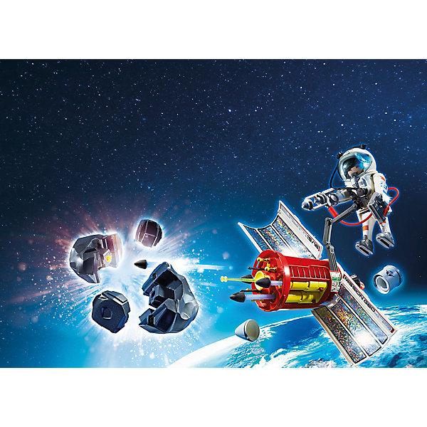 Космическая миссия: Спутниковый метеороидный лазер, PLAYMOBILПластмассовые конструкторы<br><br>Ширина мм: 288; Глубина мм: 187; Высота мм: 96; Вес г: 445; Возраст от месяцев: 72; Возраст до месяцев: 144; Пол: Мужской; Возраст: Детский; SKU: 4012473;