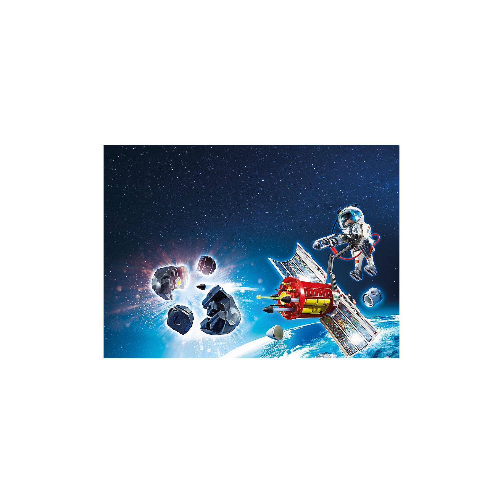 Космическая миссия: Спутниковый метеороидный лазер, PLAYMOBILПластмассовые конструкторы<br><br><br>Ширина мм: 288<br>Глубина мм: 187<br>Высота мм: 96<br>Вес г: 445<br>Возраст от месяцев: 72<br>Возраст до месяцев: 144<br>Пол: Мужской<br>Возраст: Детский<br>SKU: 4012473