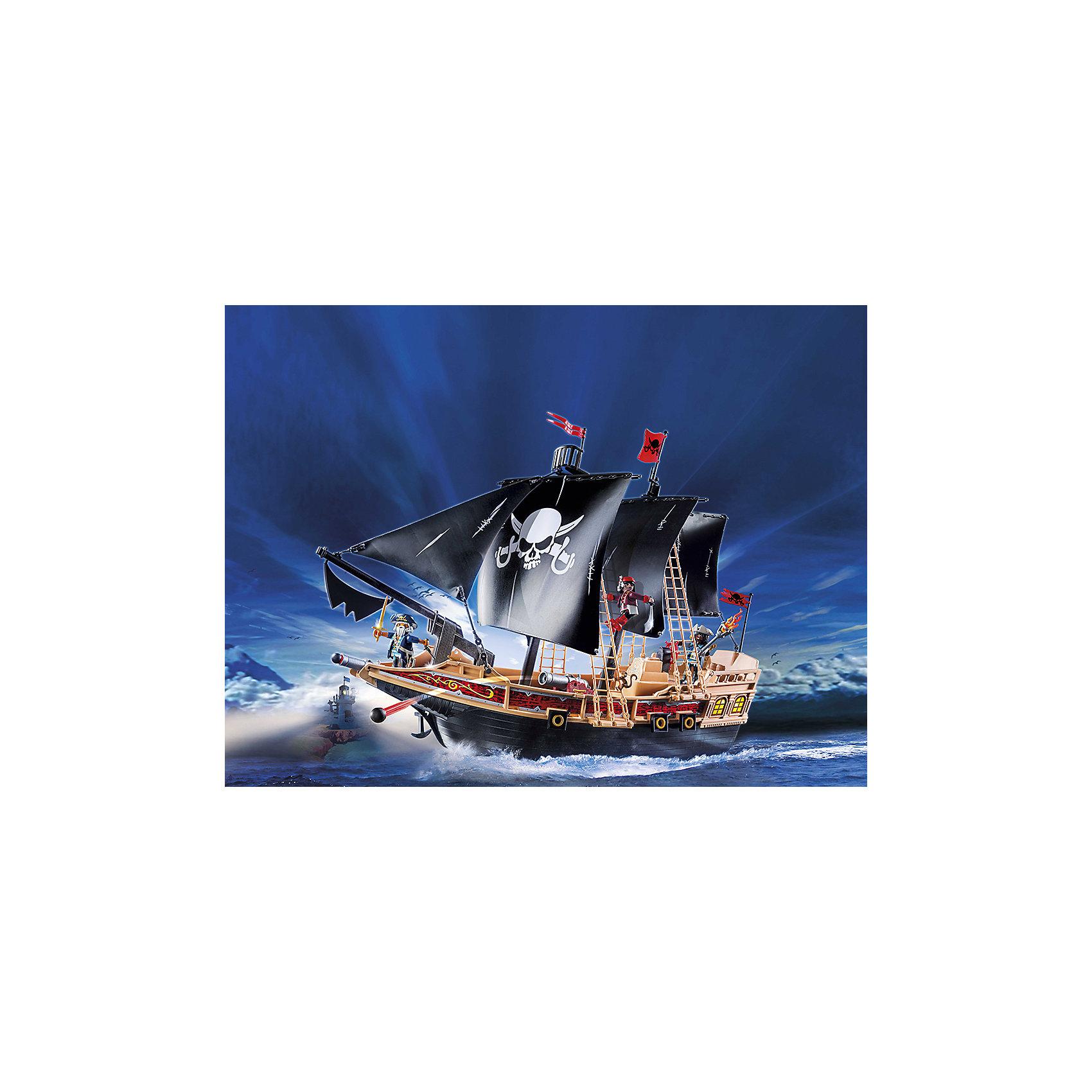 PLAYMOBIL® Пиратский боевой Корабль, PLAYMOBIL 4m фигурки из формочки грузовики 4м