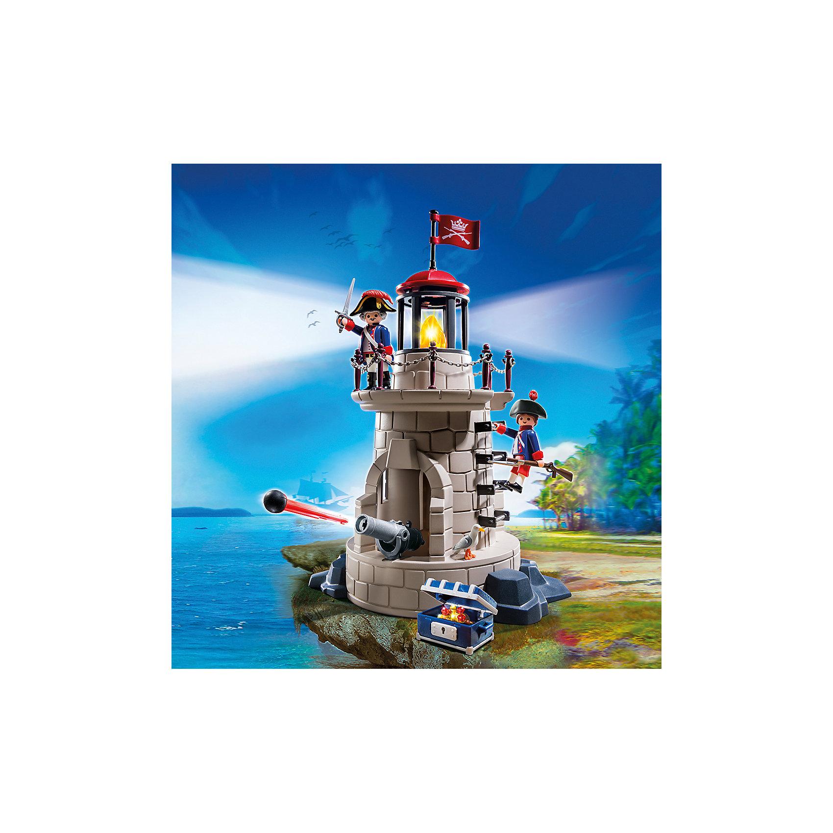 PLAYMOBIL® Пираты: Военная башня с маяком, PLAYMOBIL playmobil® экстра набор пират и сундук с сокровищами playmobil